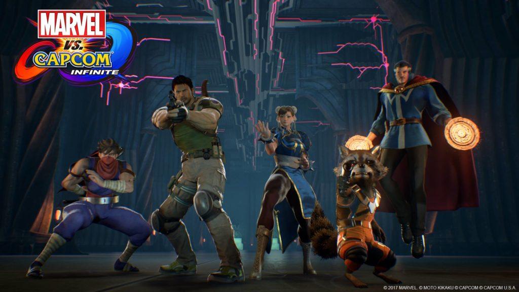 Marvel vs Capcom Infinite heroes