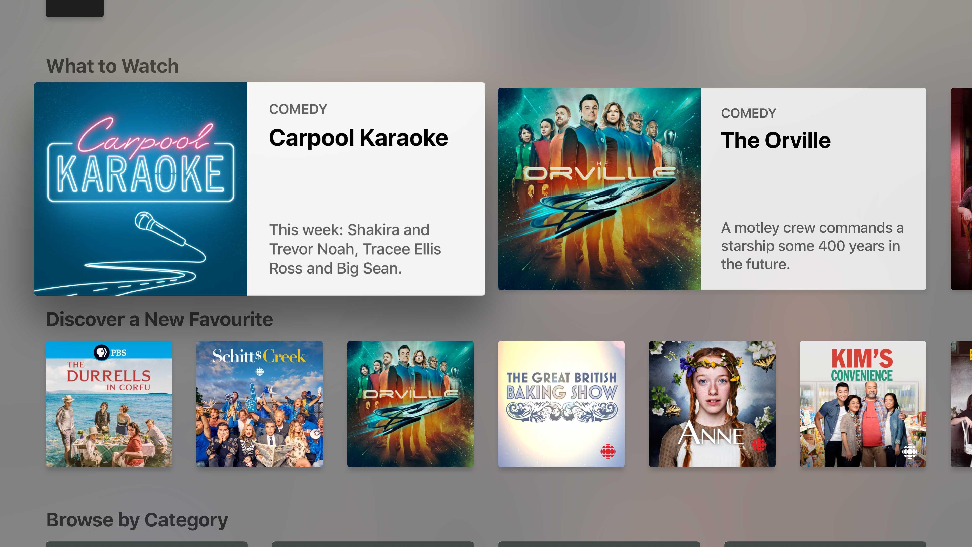 Apple TV TV app screenshot