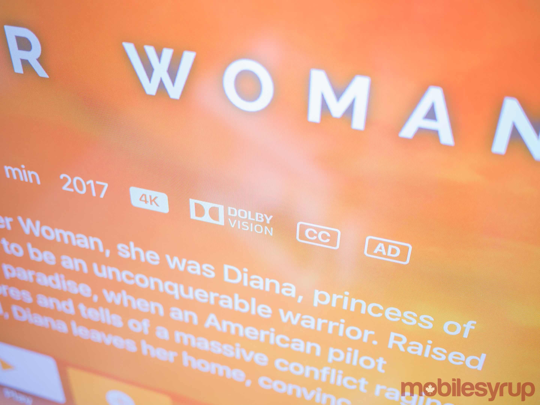Apple TV 4K Dolby Vision Wonder Woman
