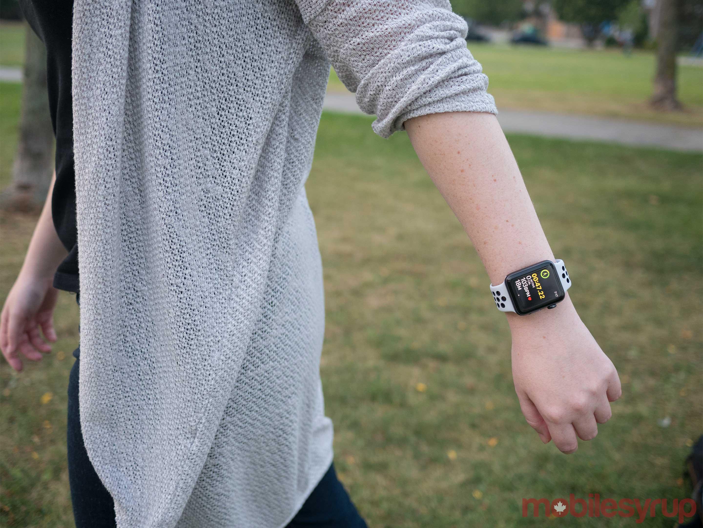 Apple Watch Series 3 arm