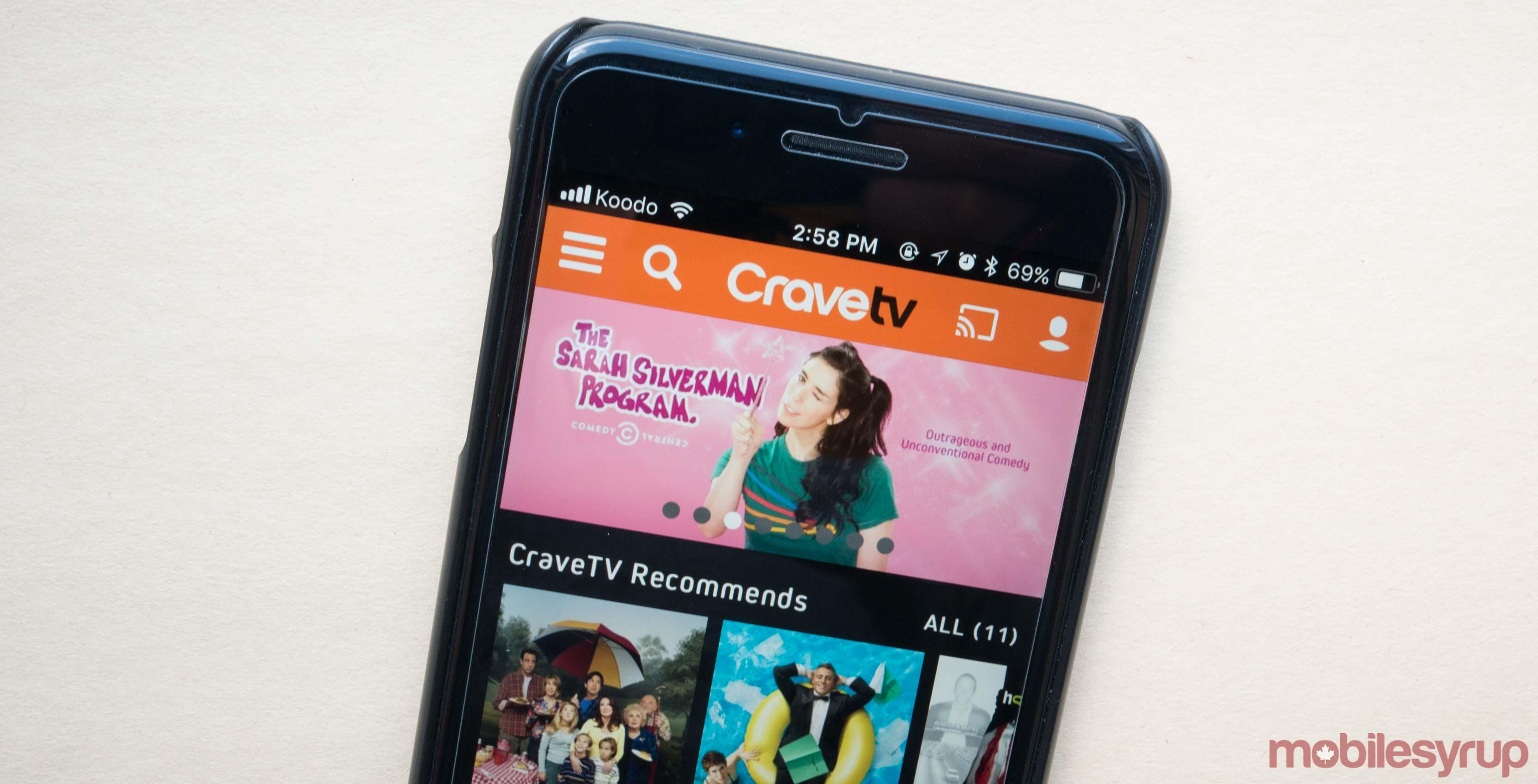 CraveTV header