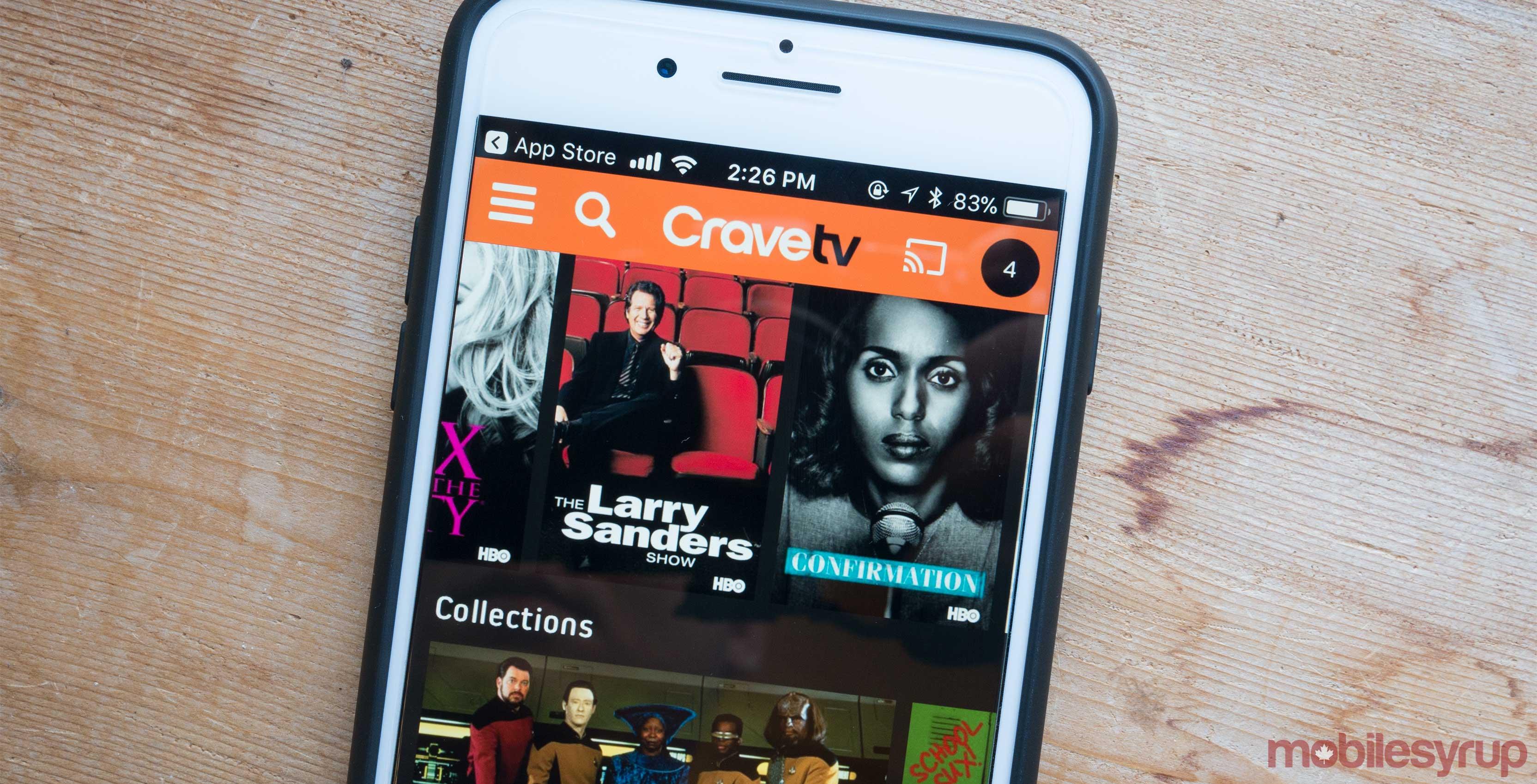 CraveTV iPhone 8