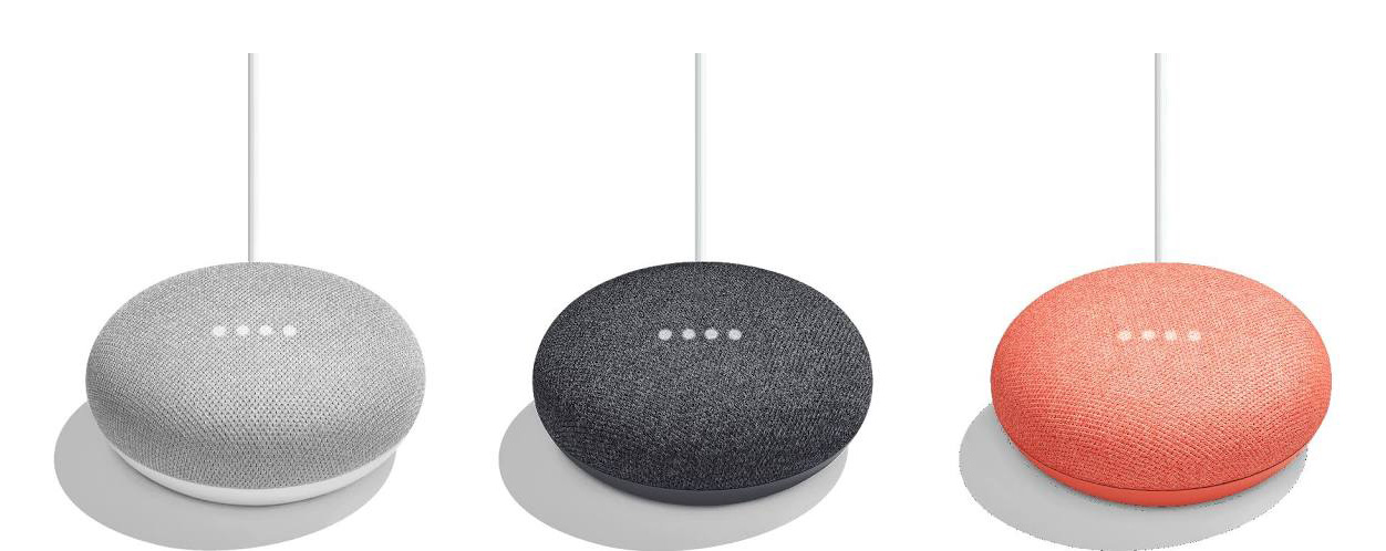 Alleged images of the Google Home Mini