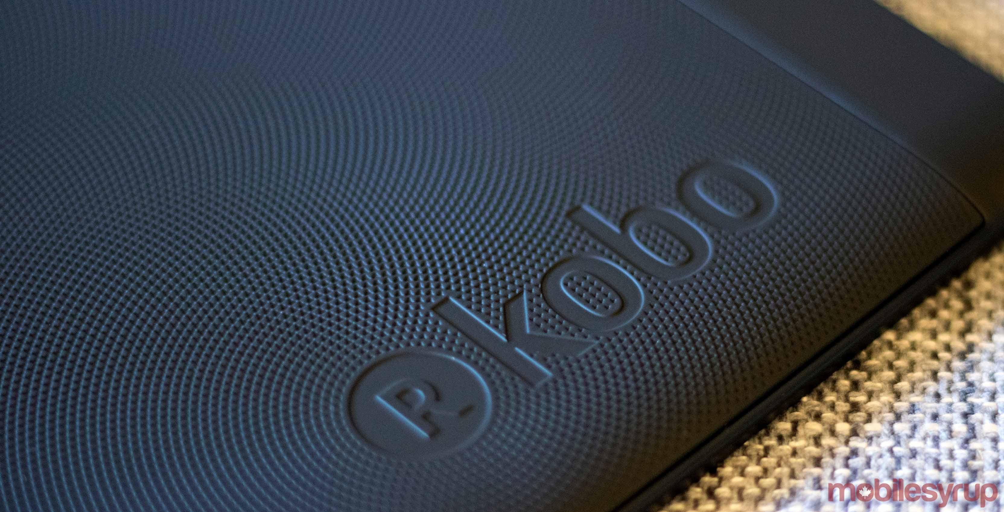 Kobo logo as it appears on the Kobo Aura e-reader