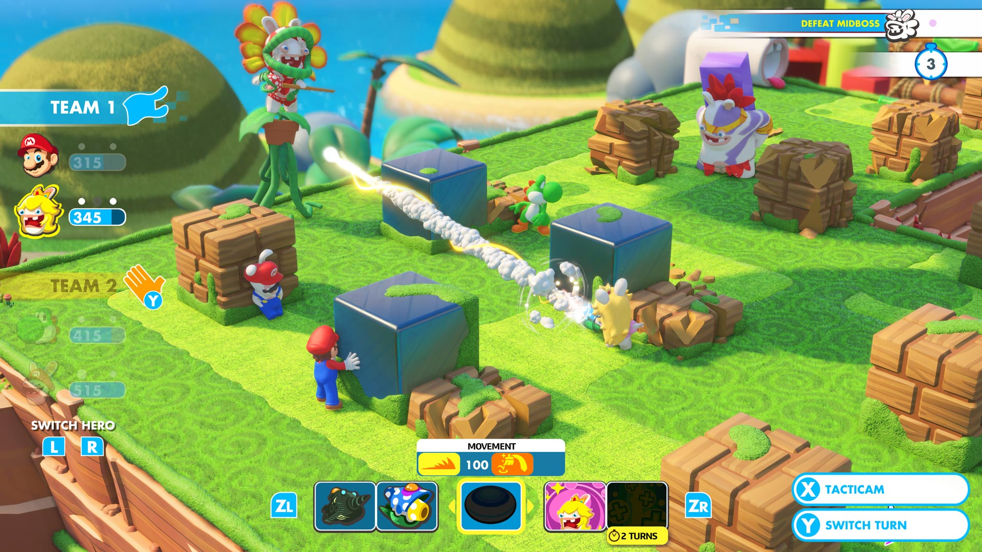 Mario+Rabbids screenshot