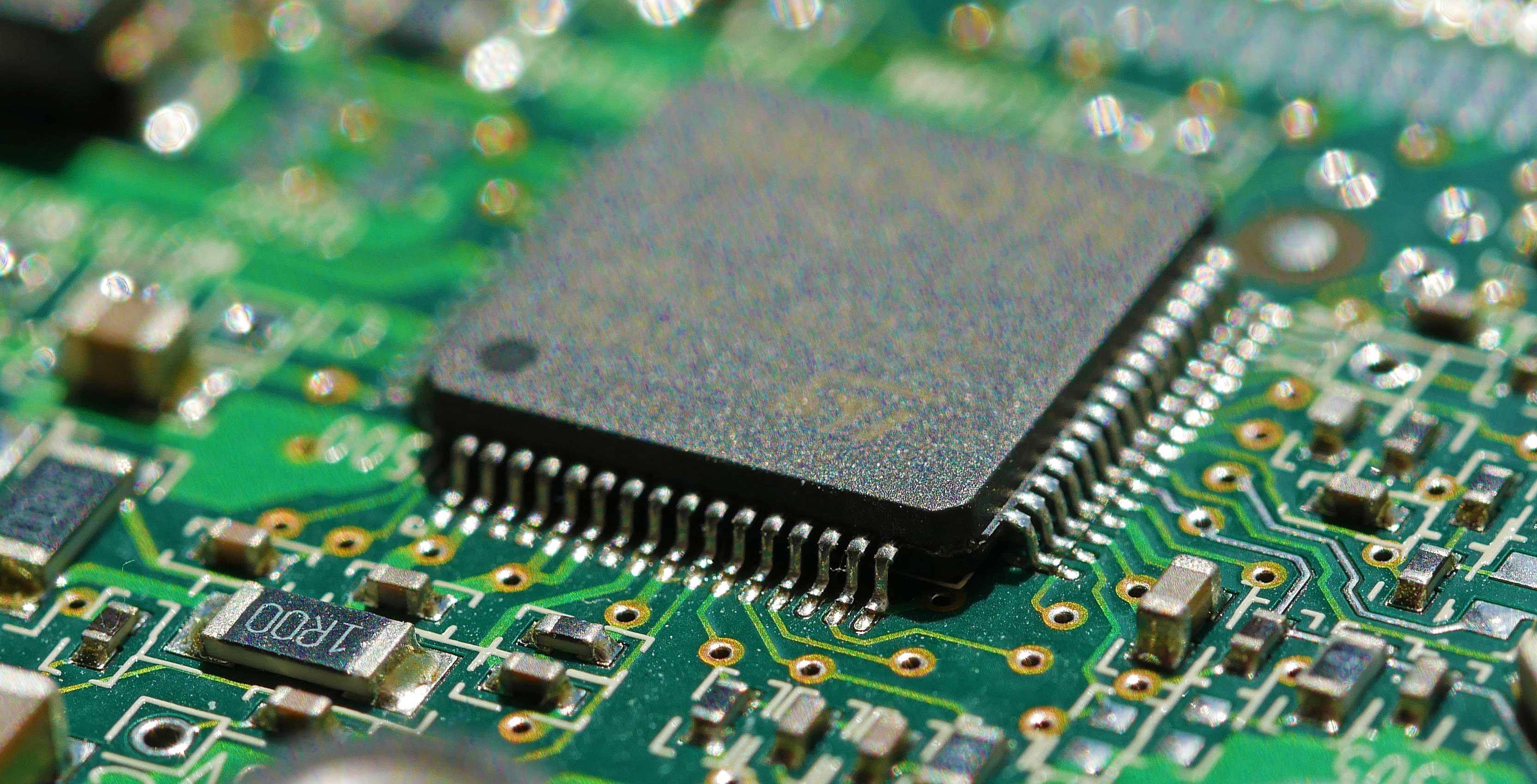 An image of a microchip