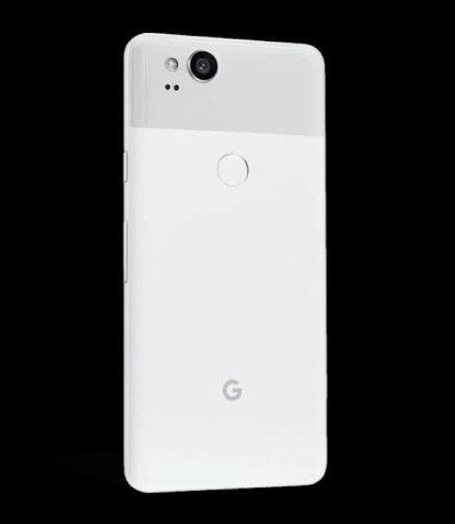 leaked render of Pixel 2 in Clearly White