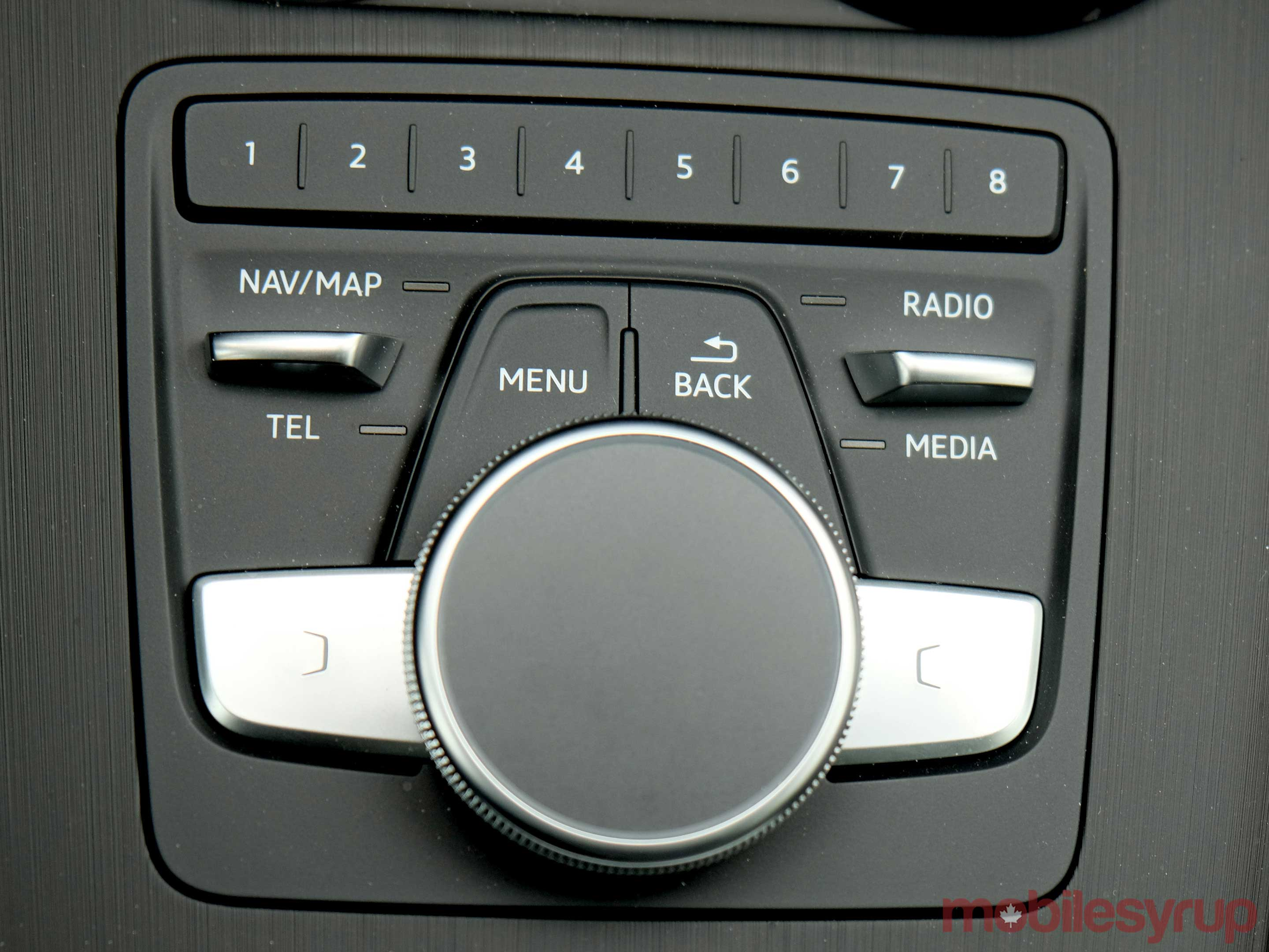 Audi MMI physical controls