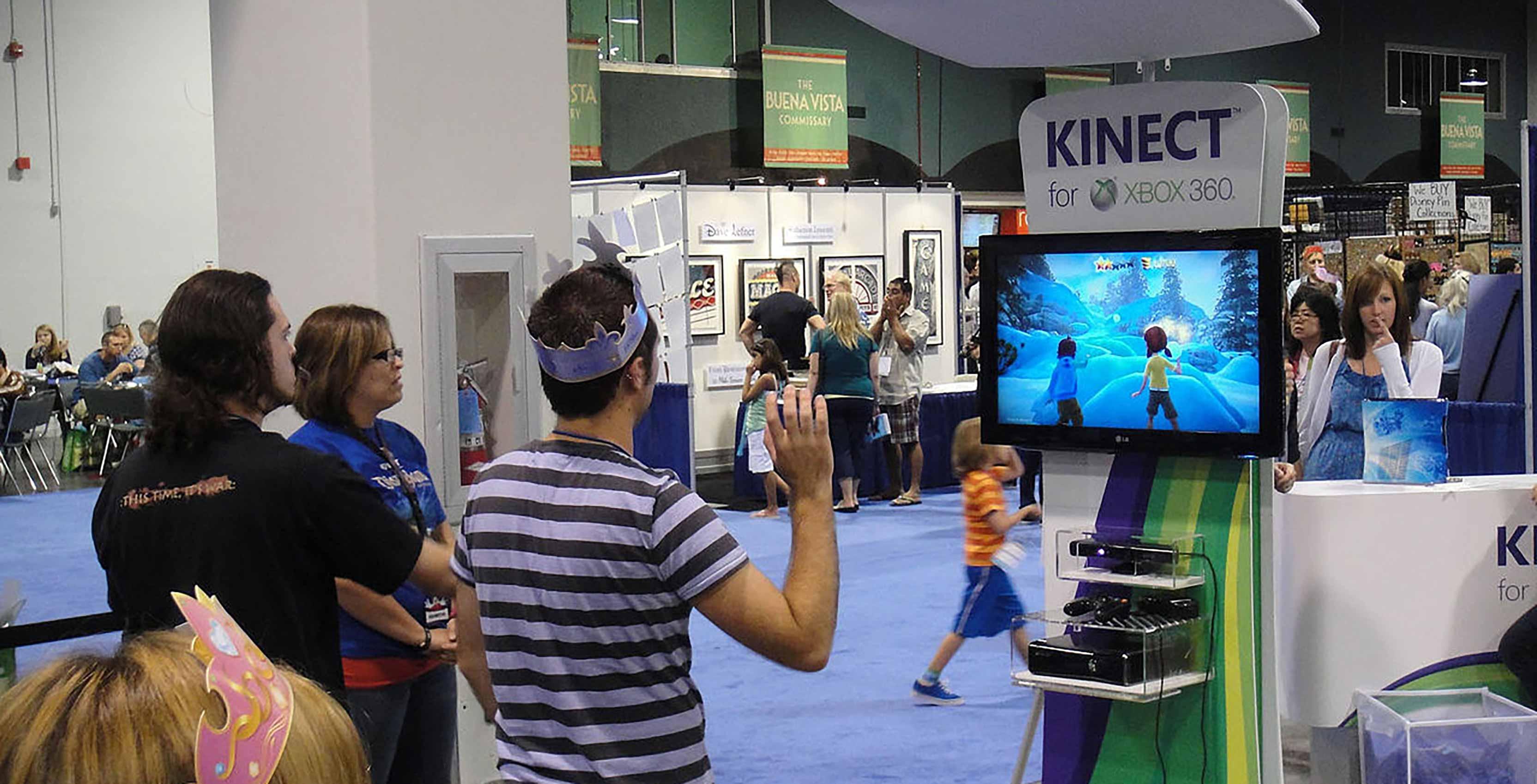 Kinect Disney game demonstration