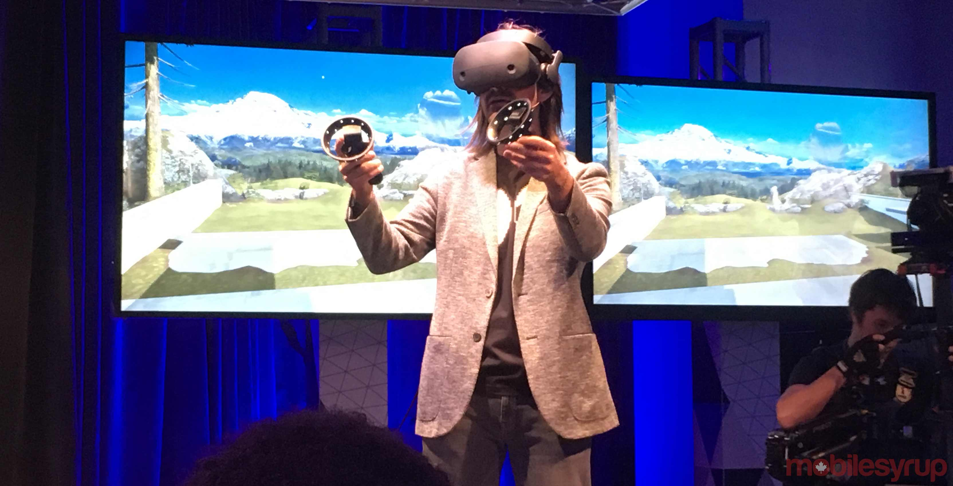 Alex Kipman using mixed reality