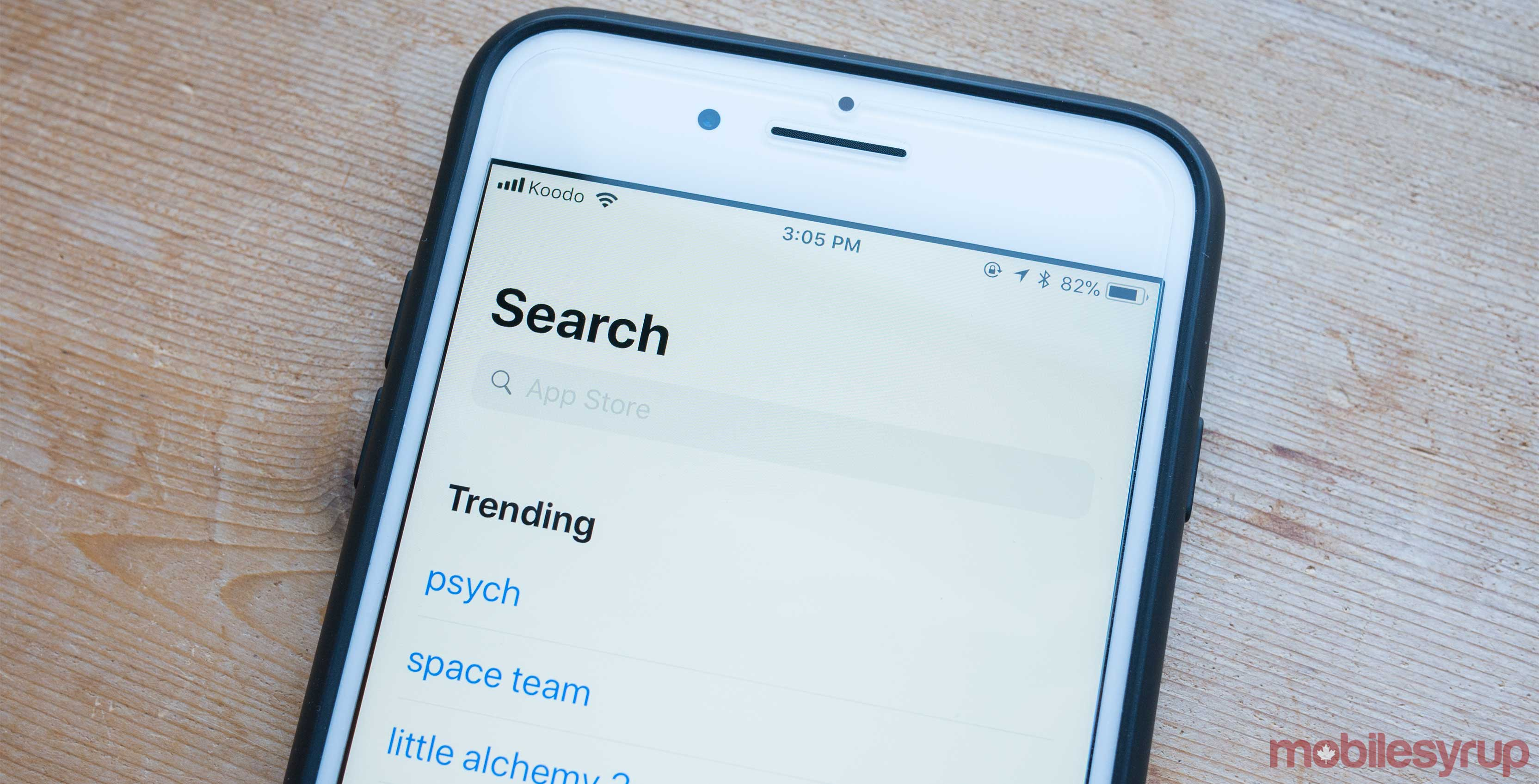 App Store search results