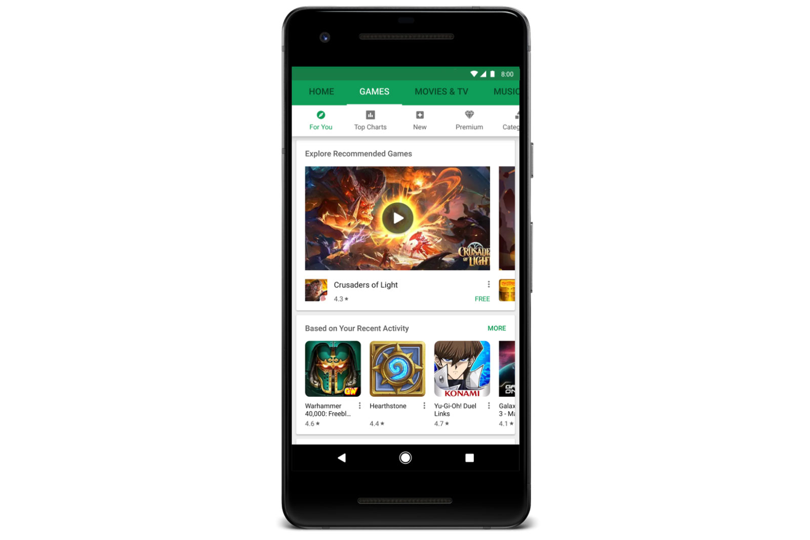 Google Play Games section