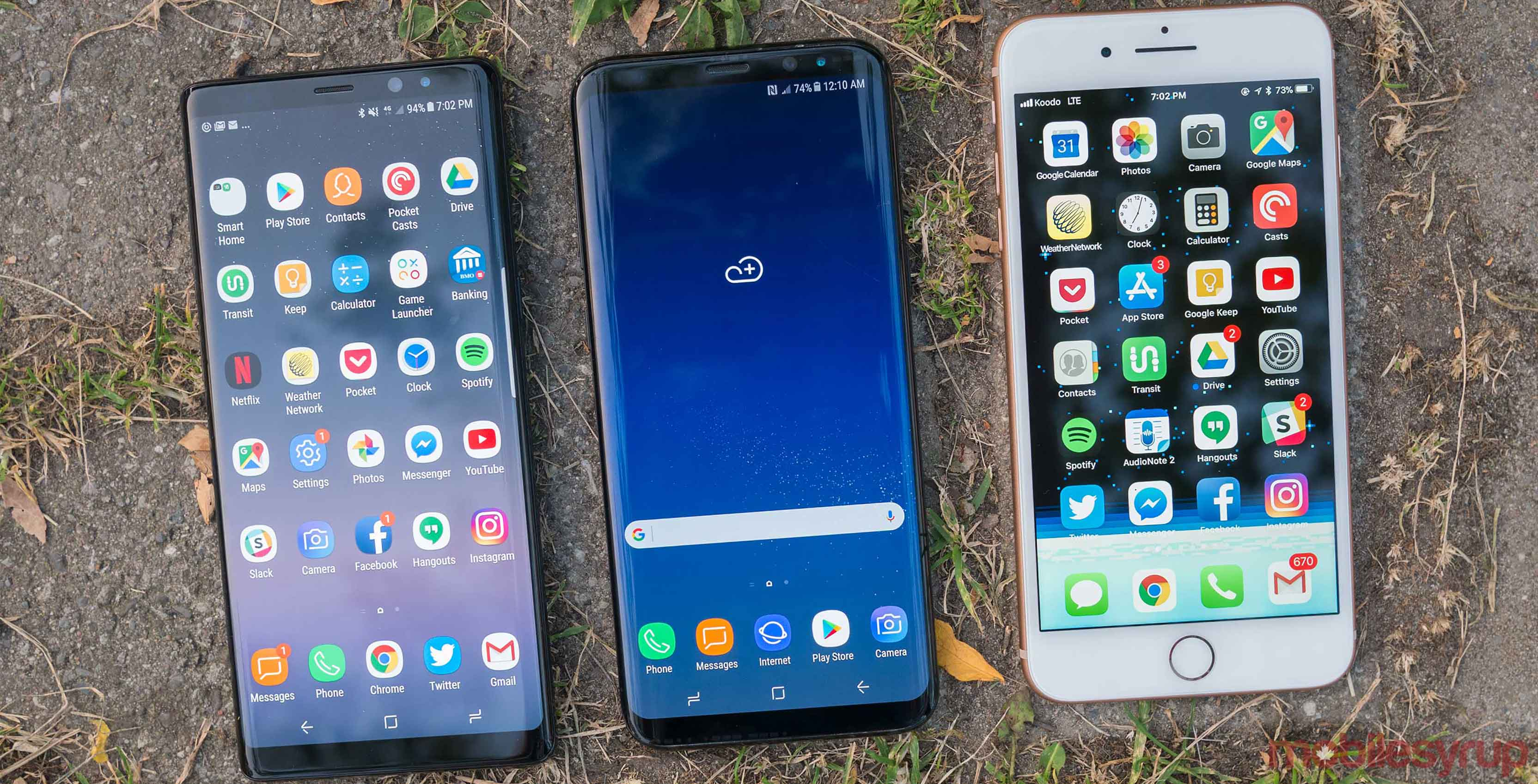 iPhone 8 vs Note 8 and S8