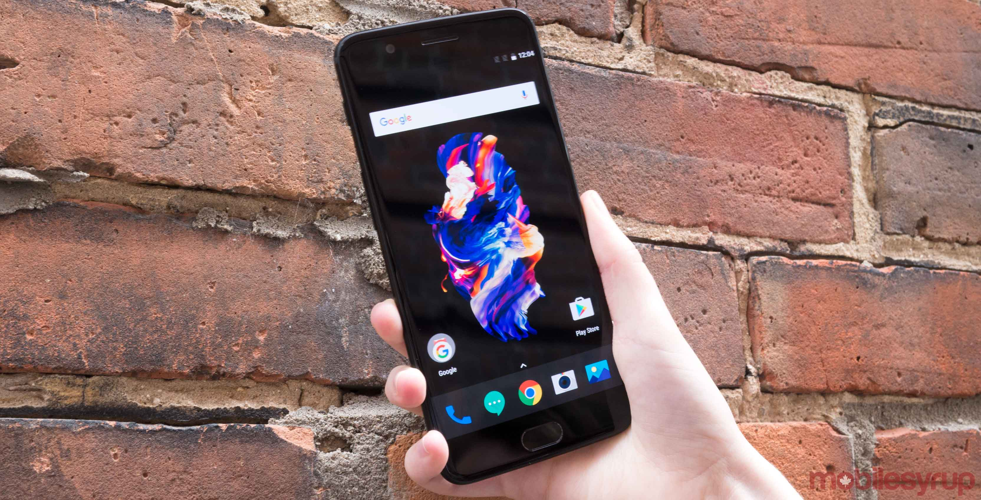 OnePlus 5 front facing