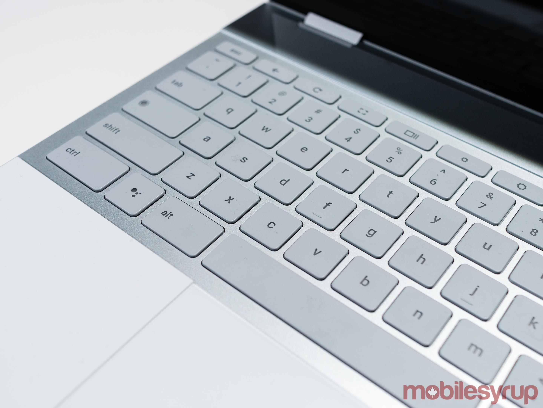 The Pixelbook's keyboard