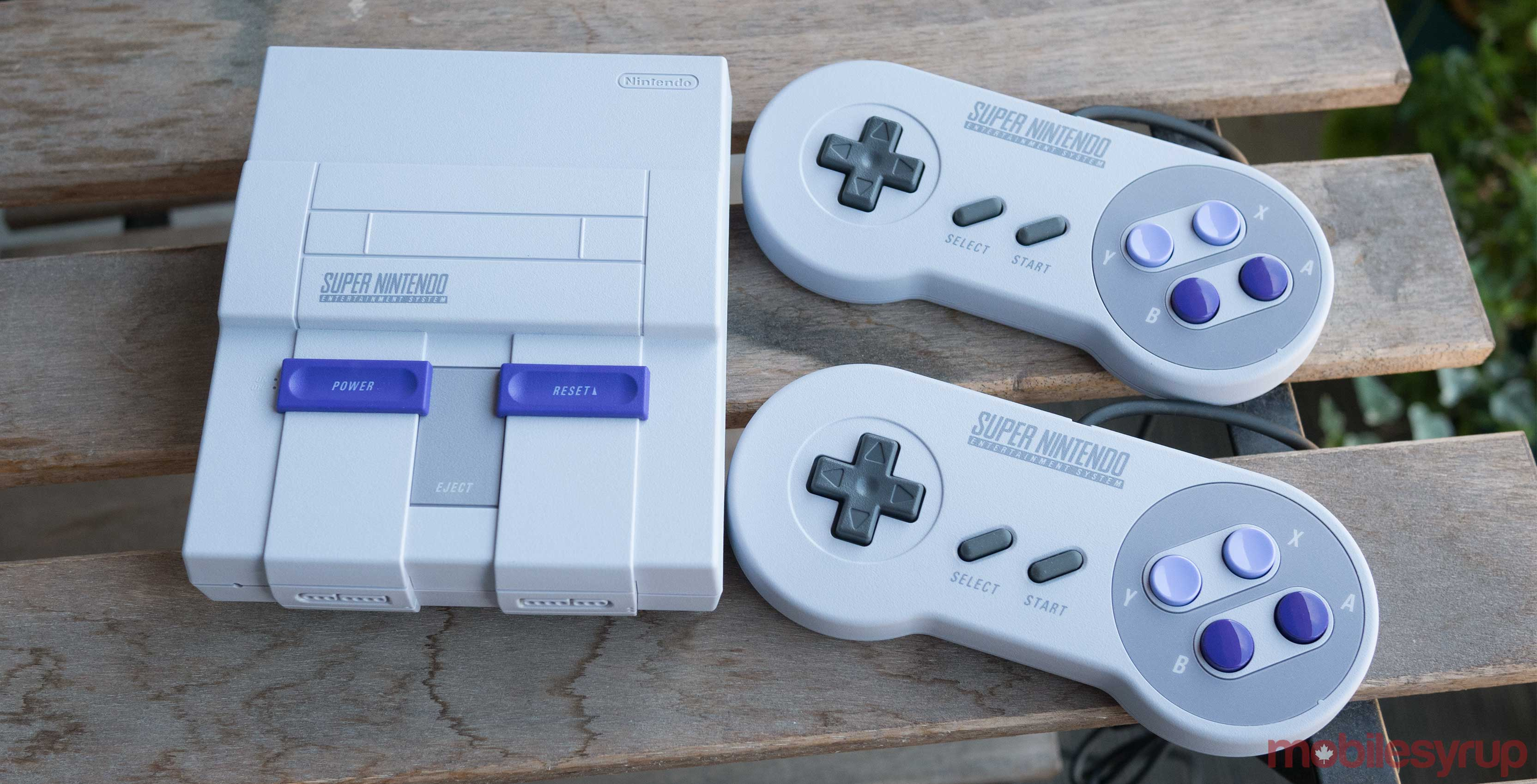 SNES Classic with two controllers