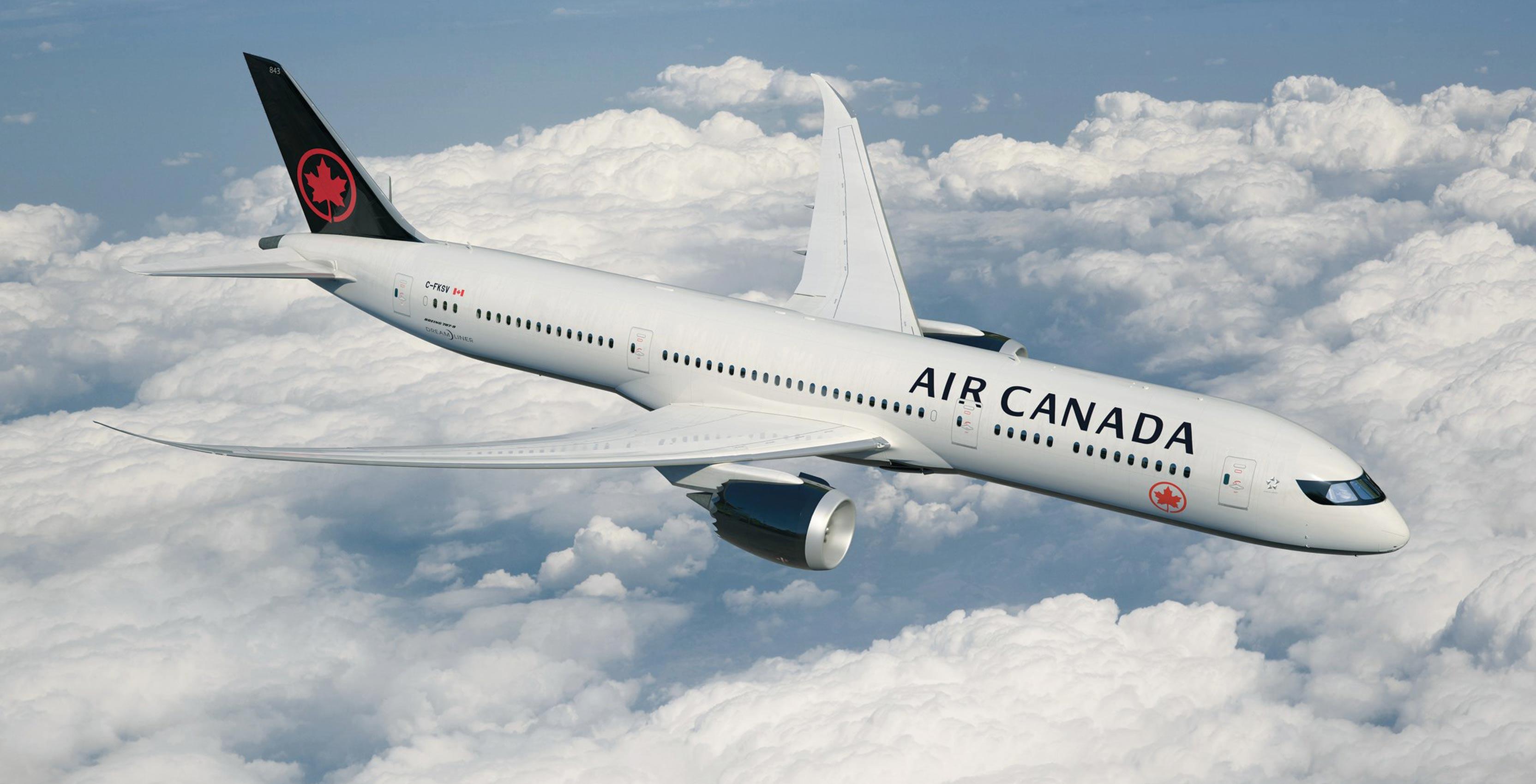 an Air Canada airplane