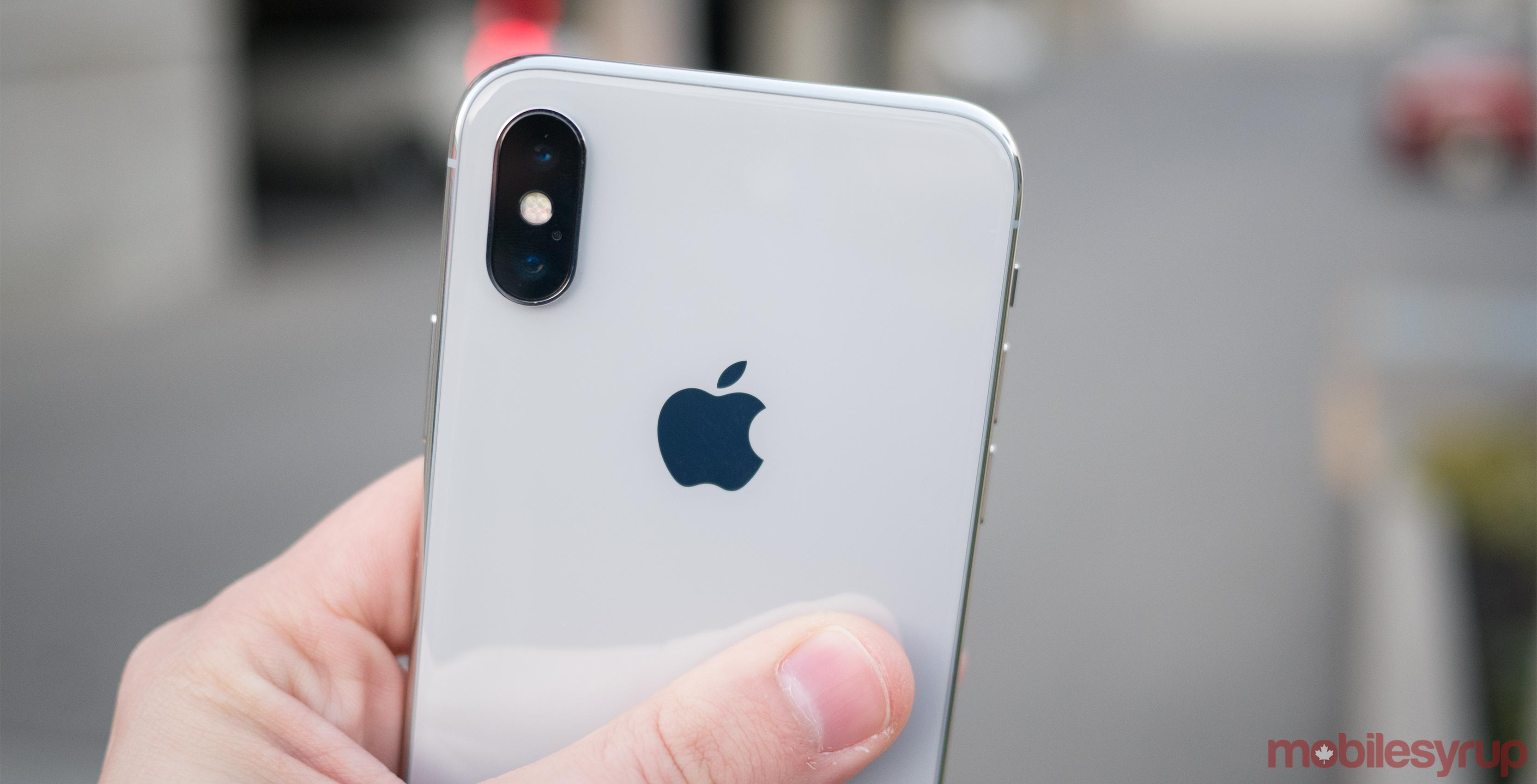 Rear of iPhone X
