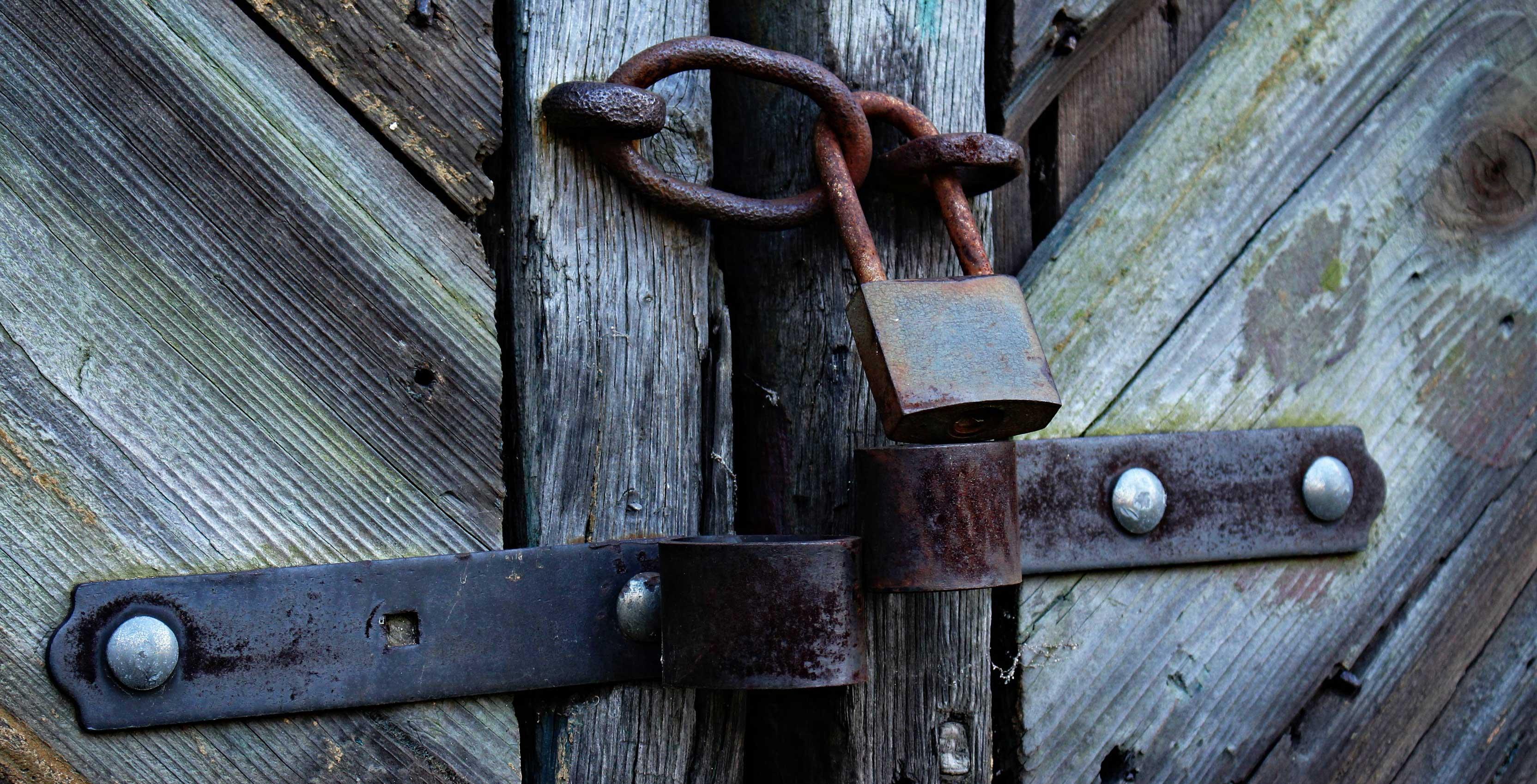 lock on door