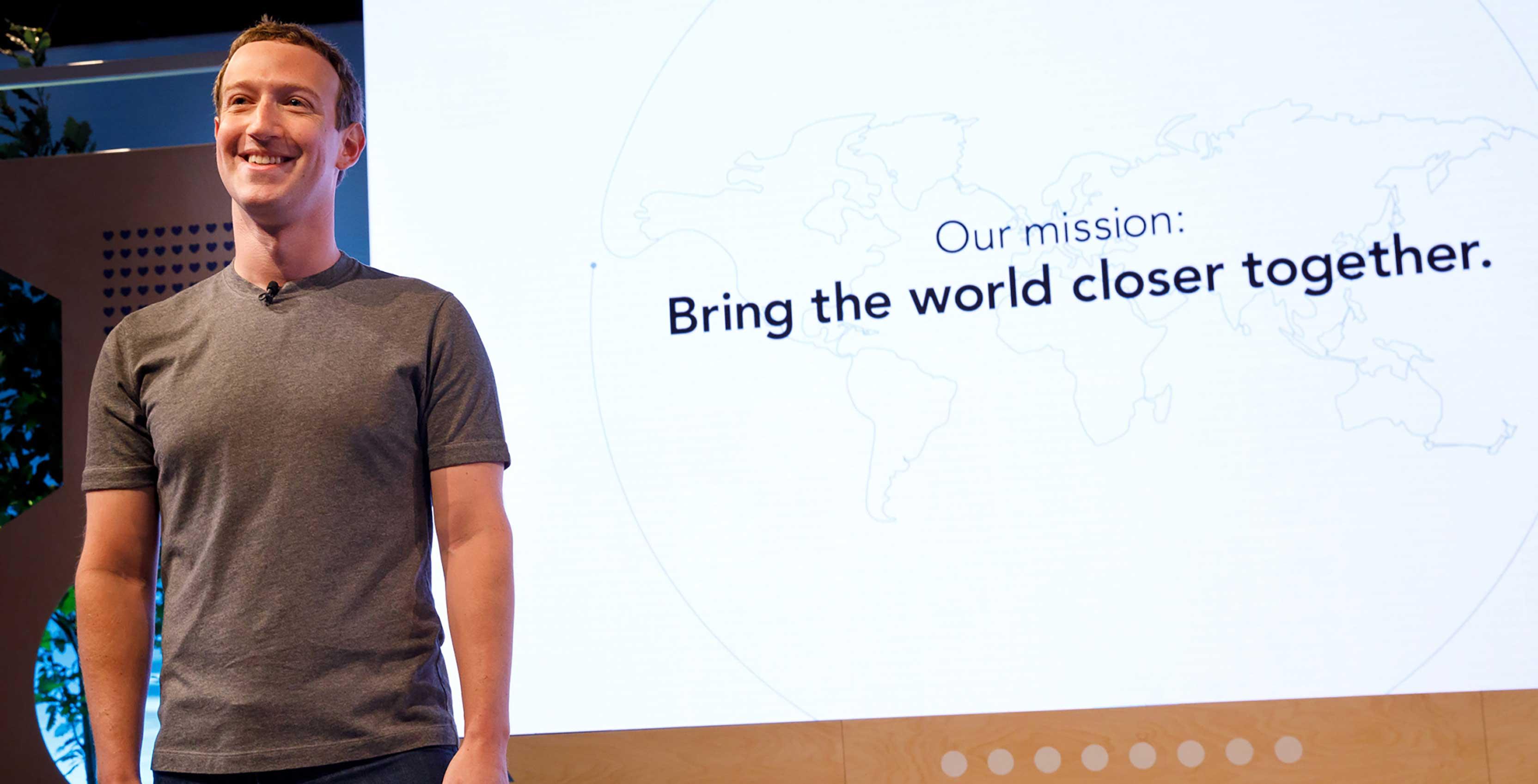 Facebook Mark Zuckerberg mission statement