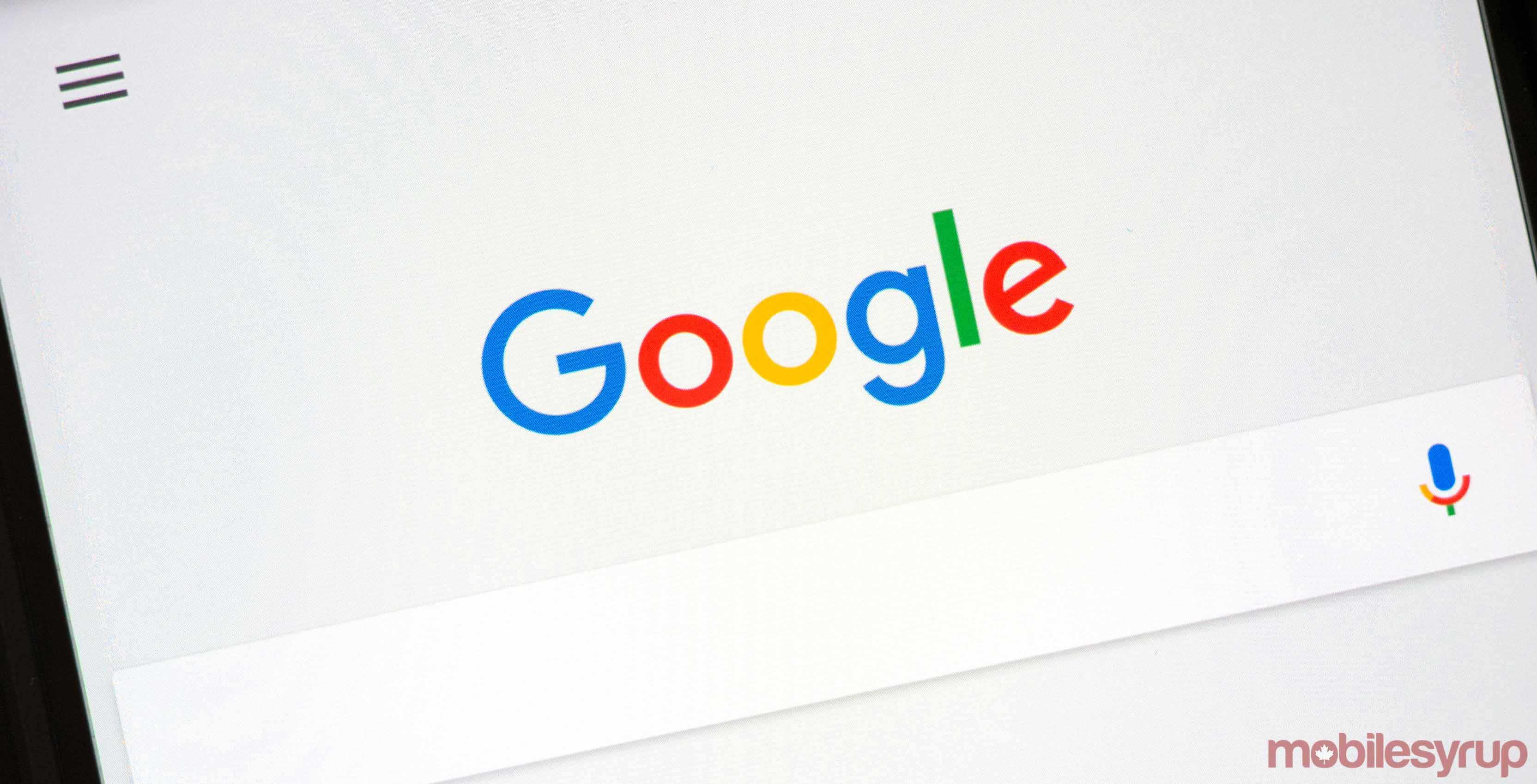 Google Canada search bar
