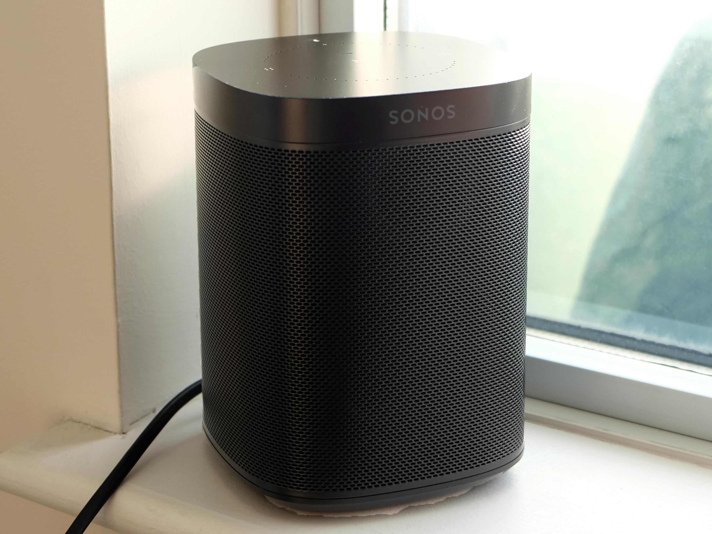 Sonos One in the corner