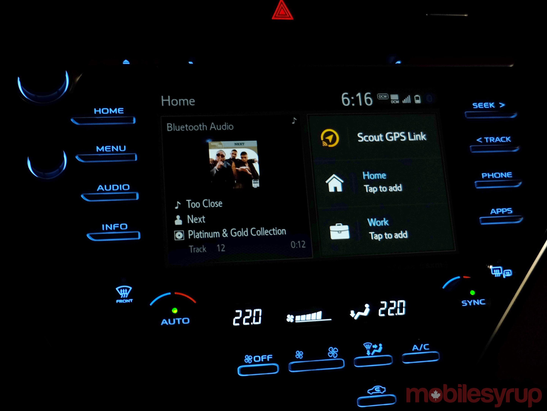 Toyota infotainment screen
