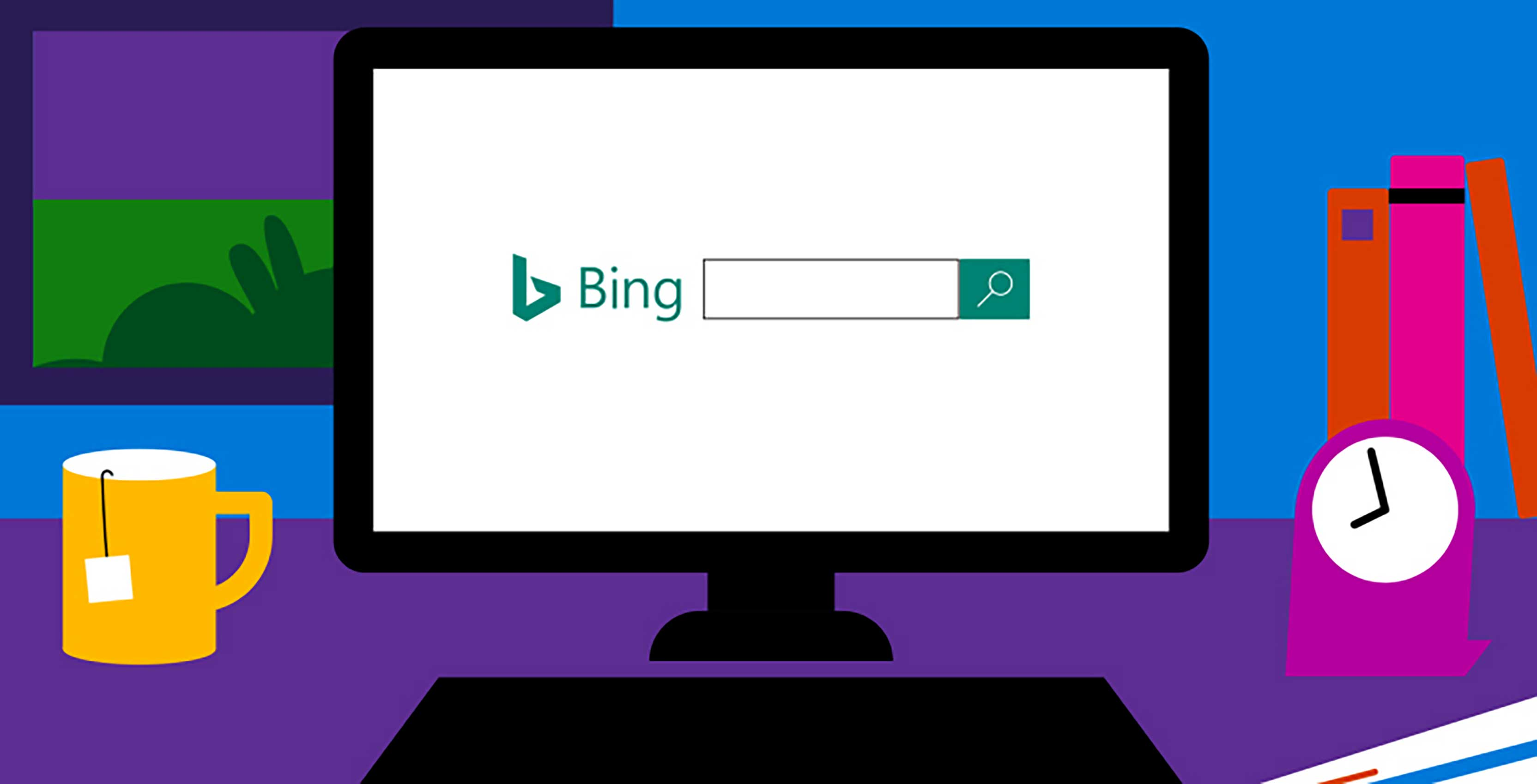 Microsoft Bing header