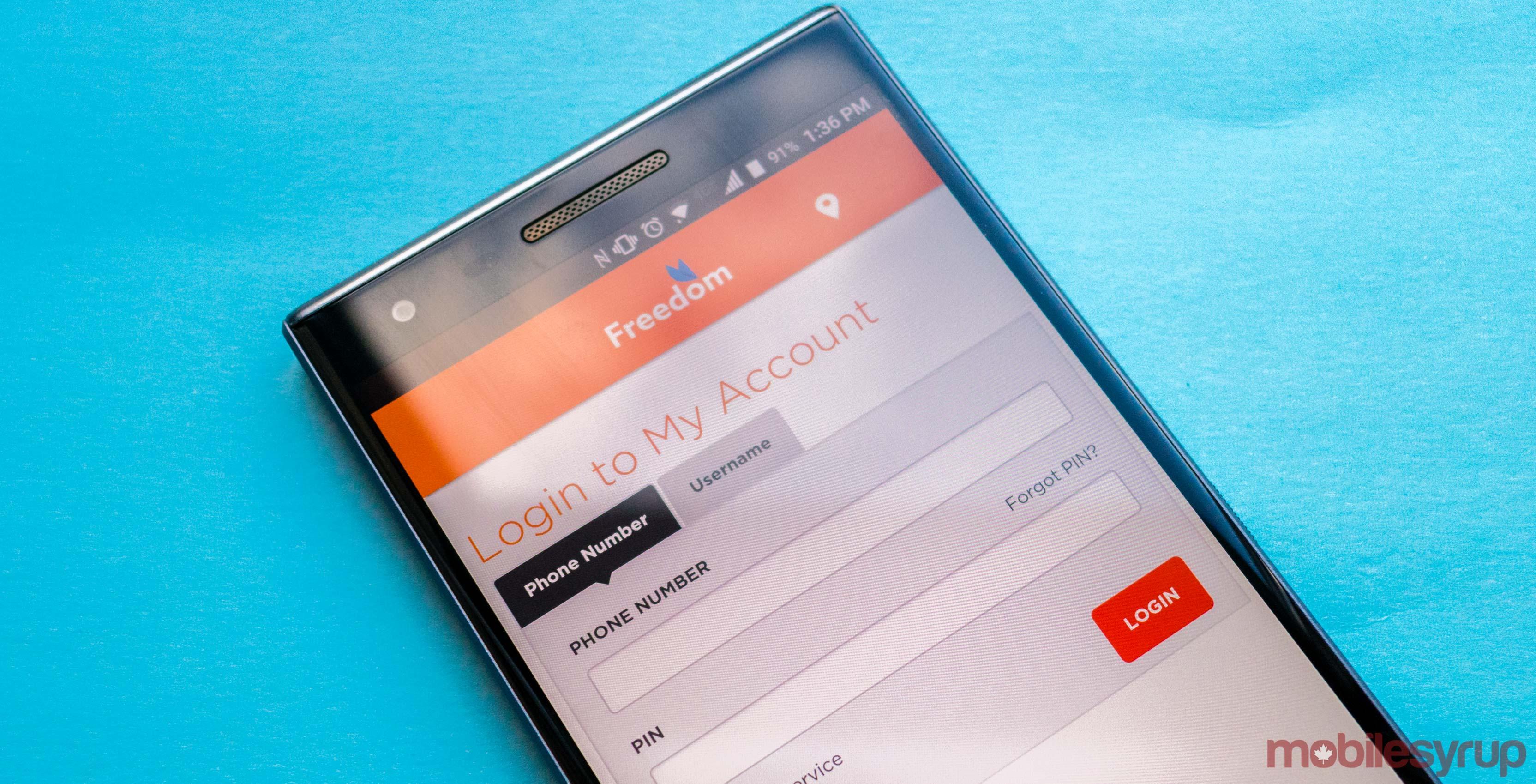 Freedom Mobile's My Account app