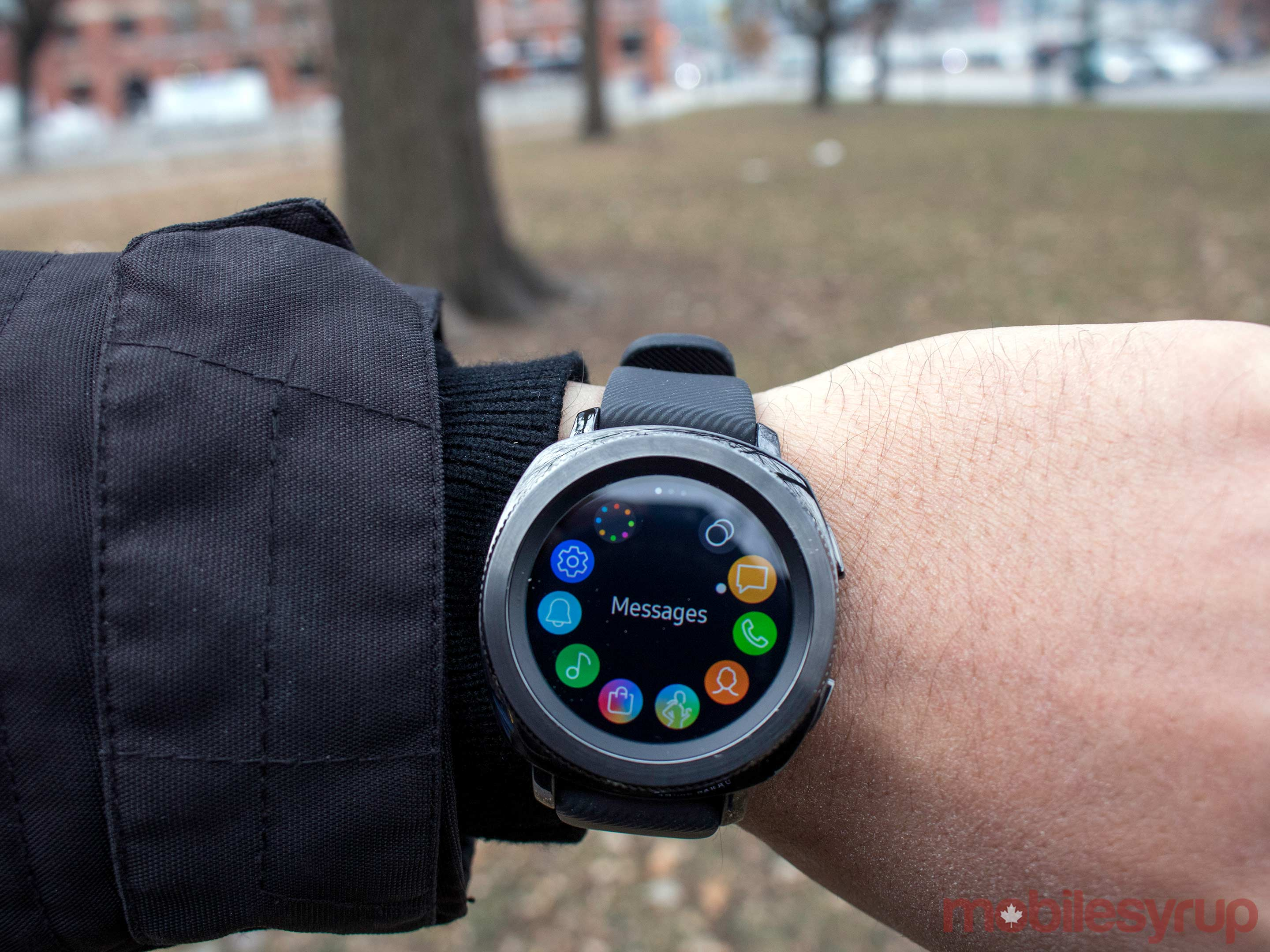 samsung gear sport on wrist