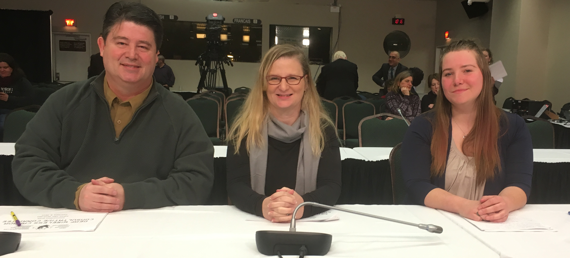 Members of the DWCC at the CRTC Wireless Code hearings