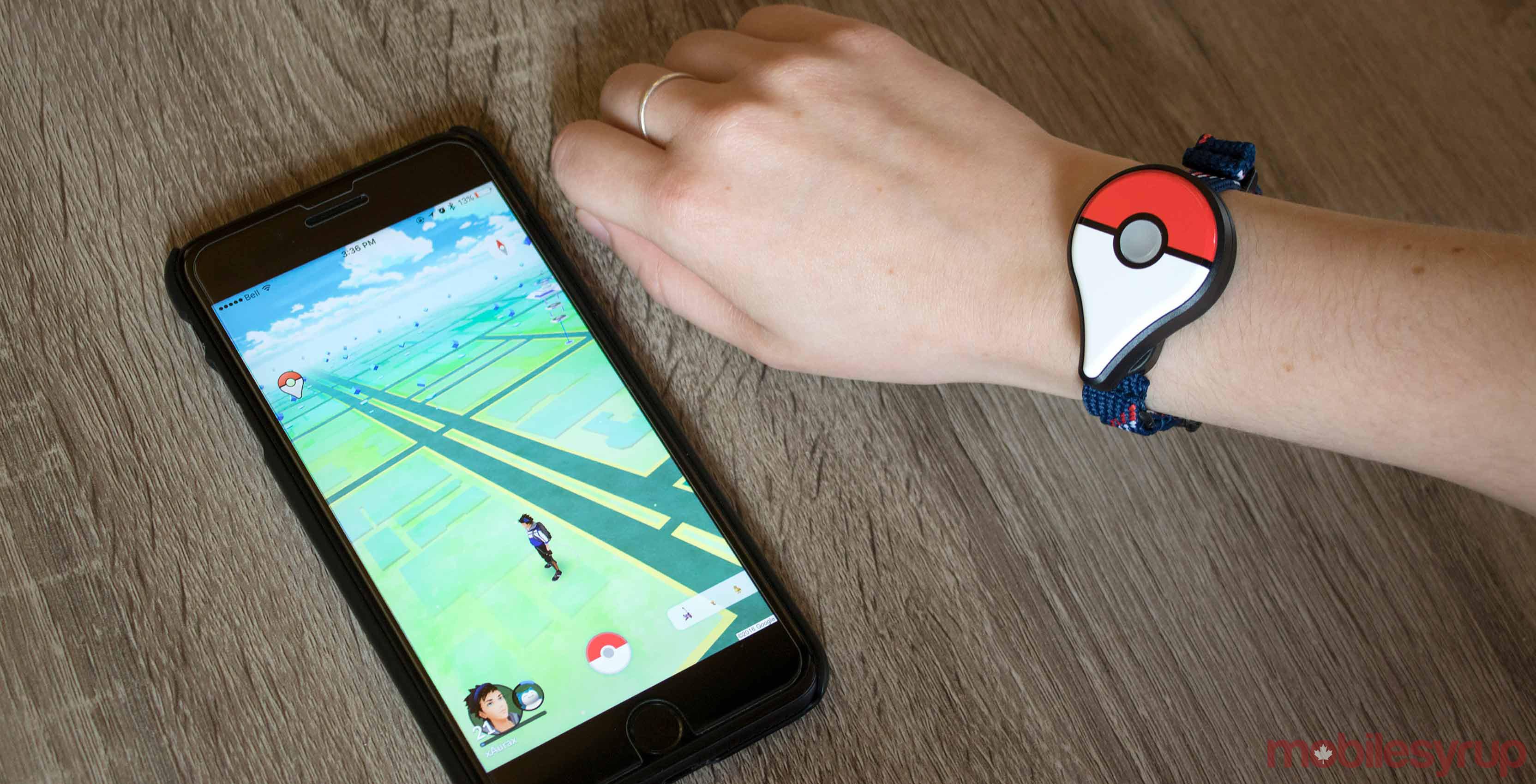 Pokemon Go app with accessory