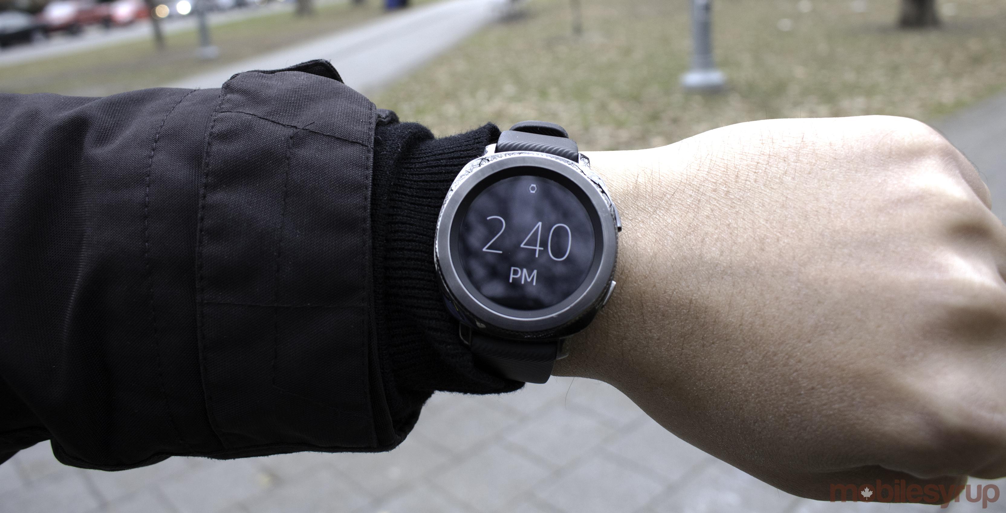 Gear Sport on the wrist