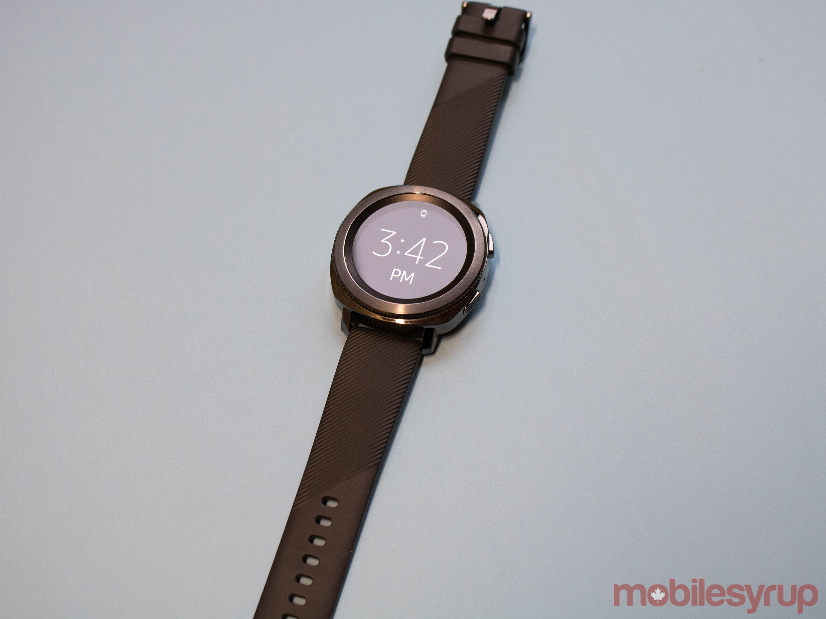 Samsung Gear Sport outstretched