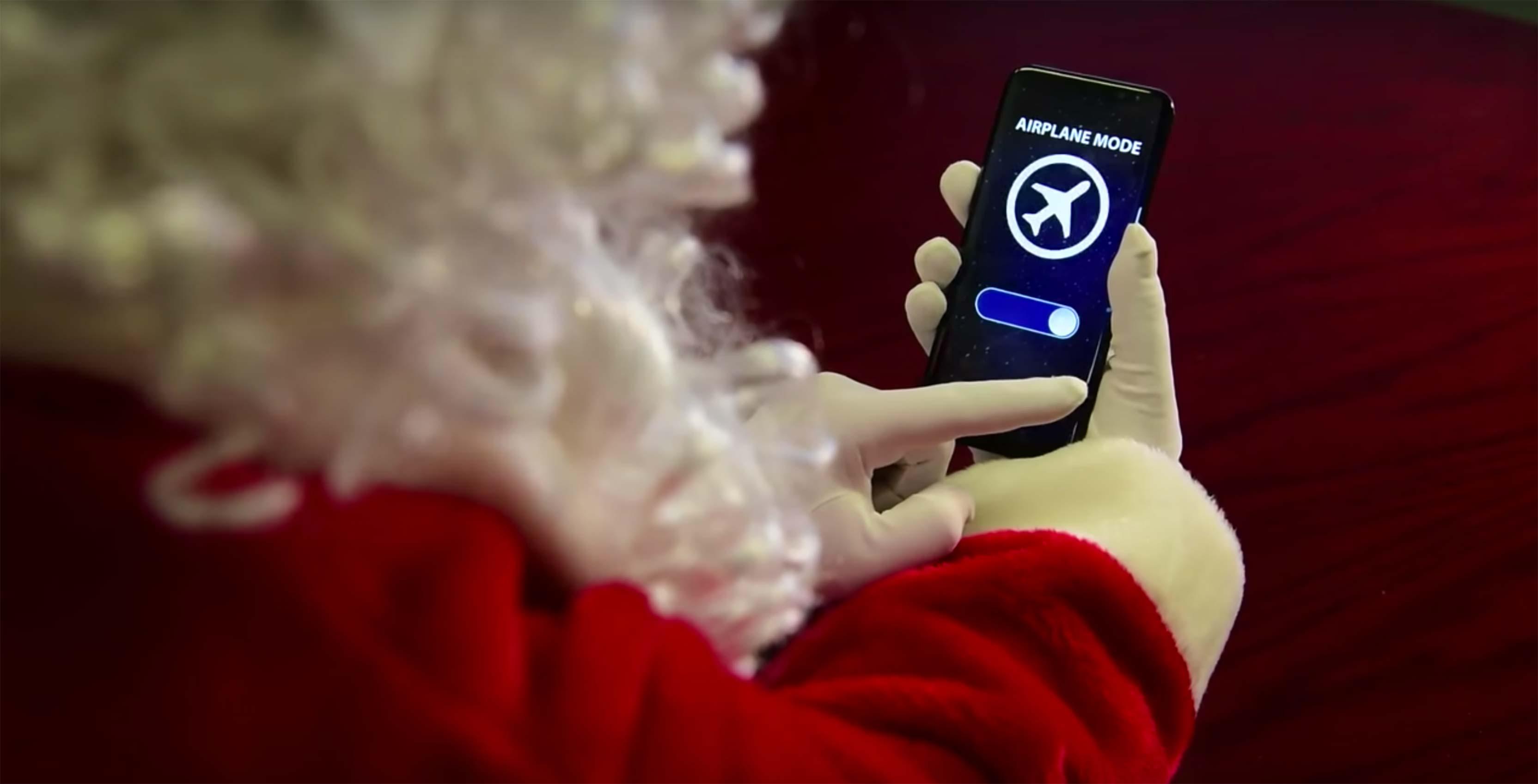 Santa phone airplane mode