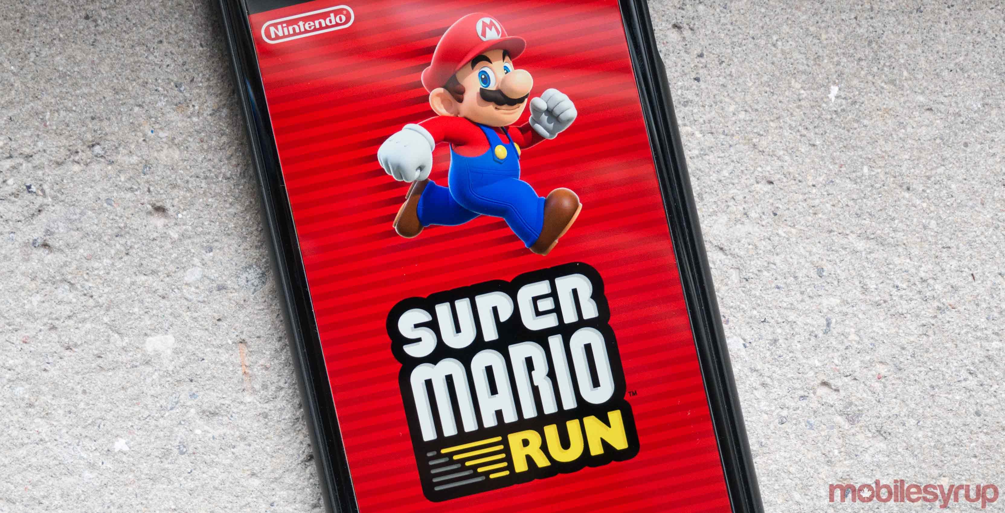 Super Mario Run on iPhone