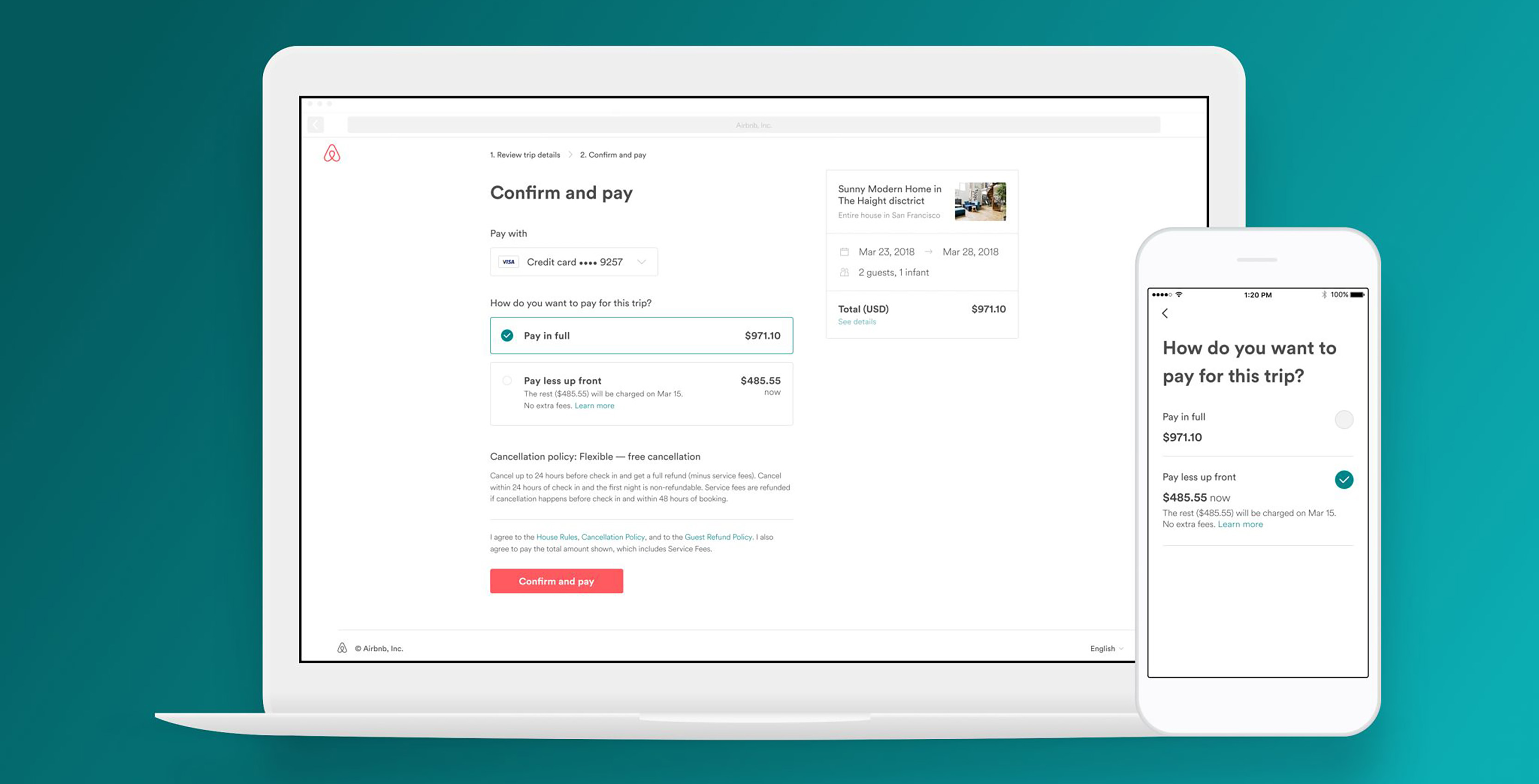 Air bnb payless up front