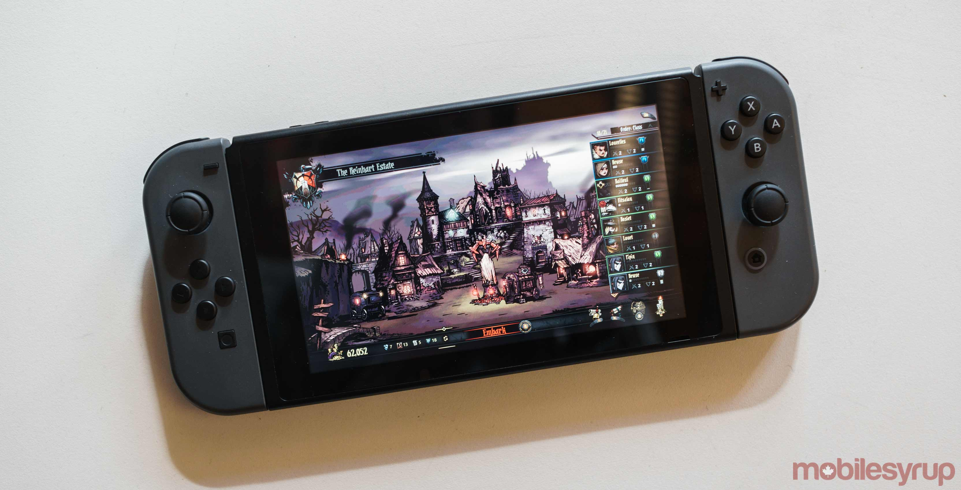 Darkest Dungeon recently released on the Switch
