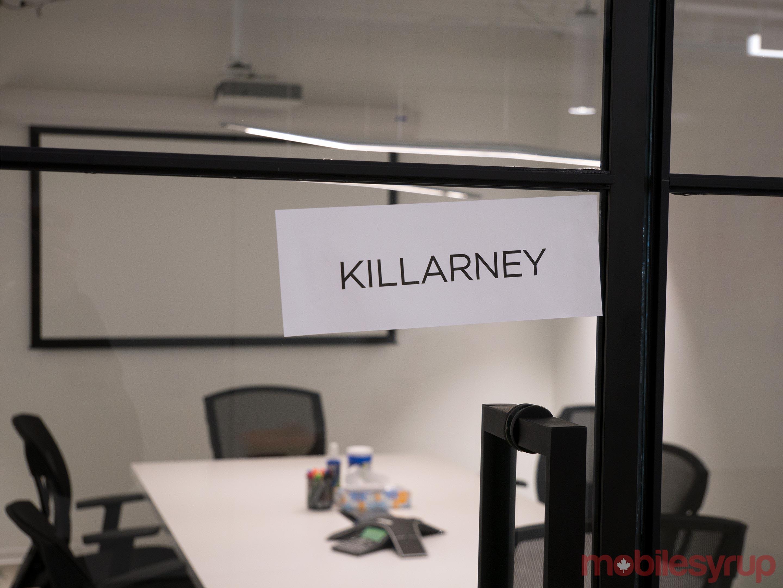 Ecobee office meeting room sign