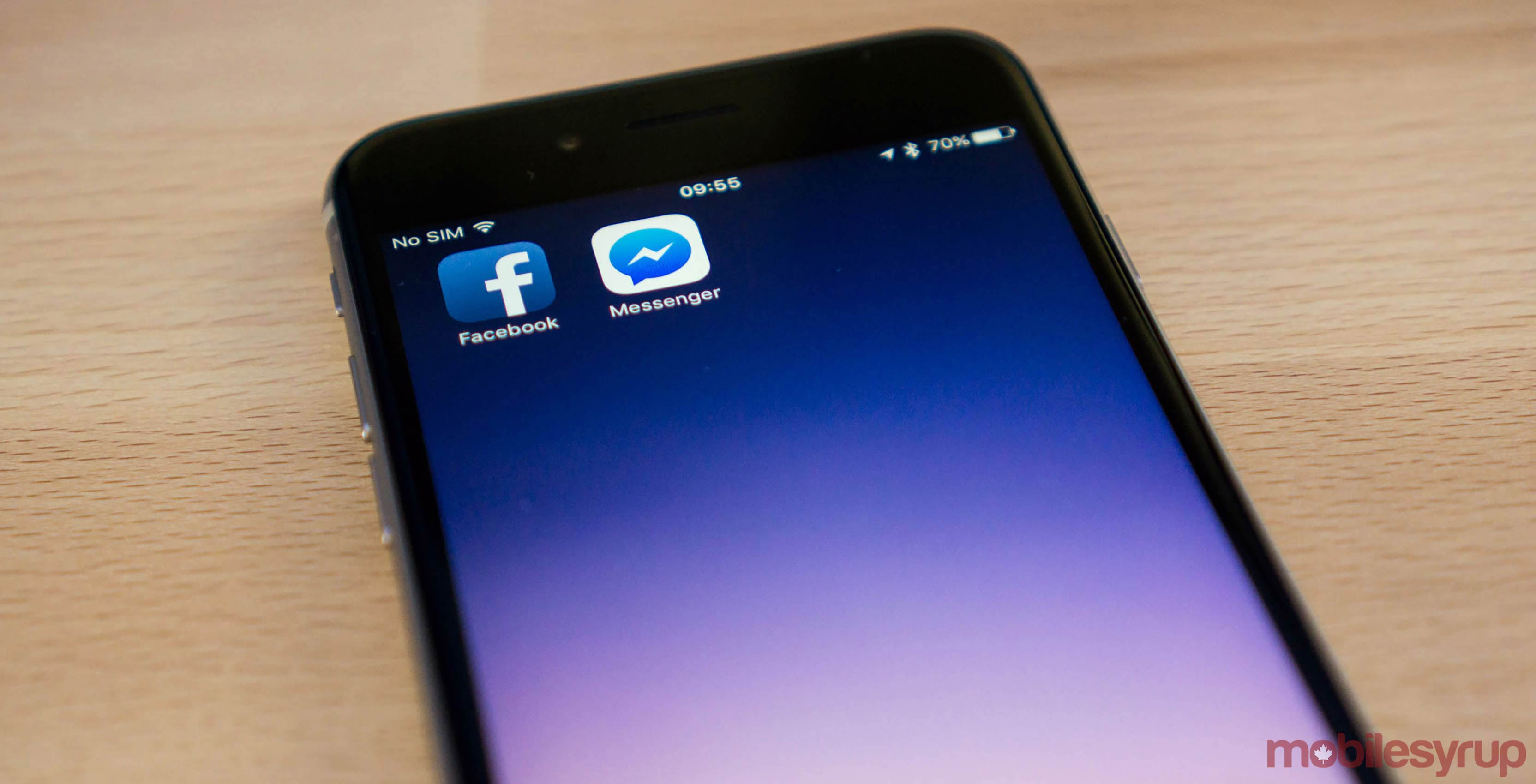 Facebook Messenger app on phone