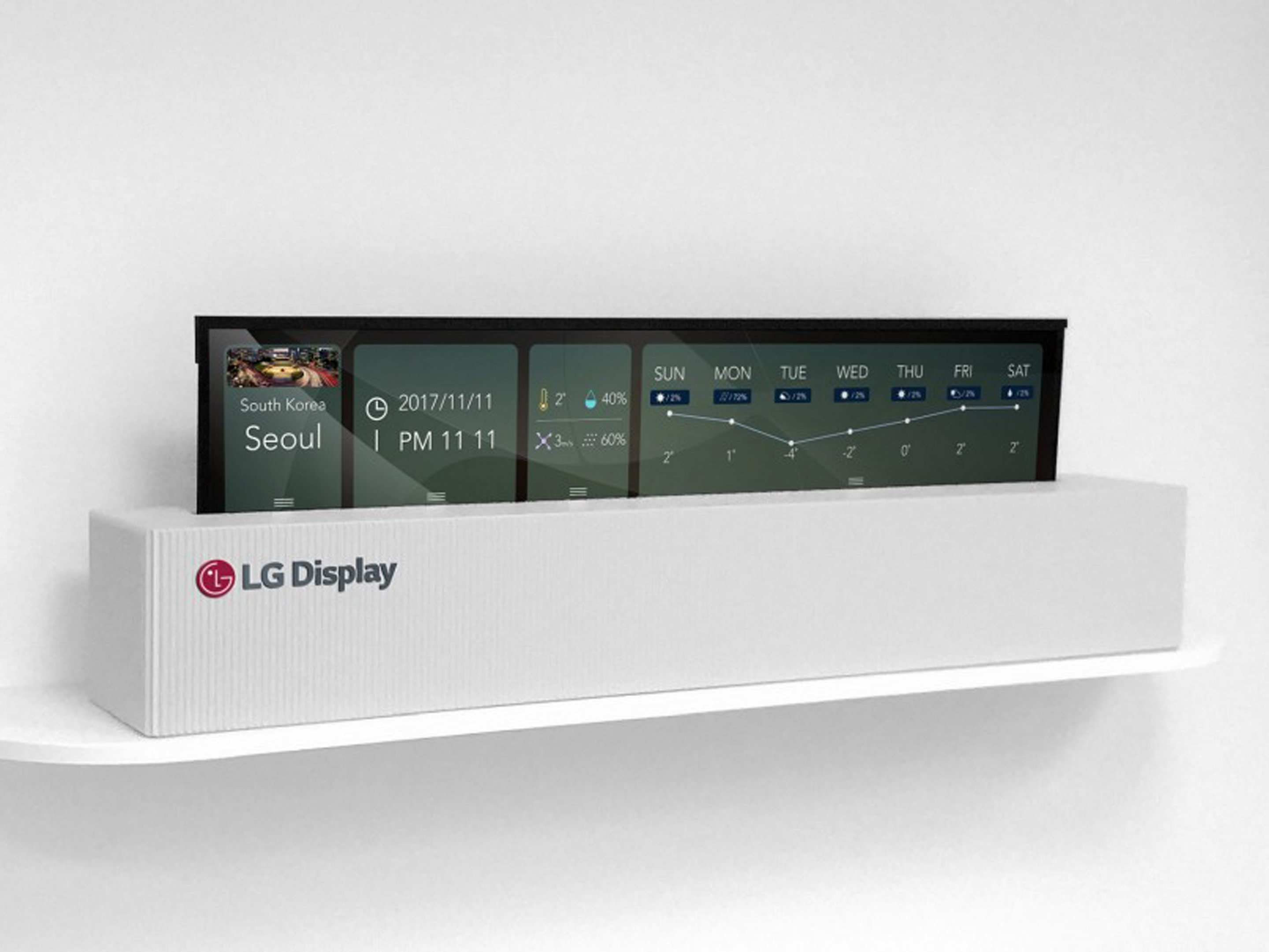 LG's rollable TV rolled up