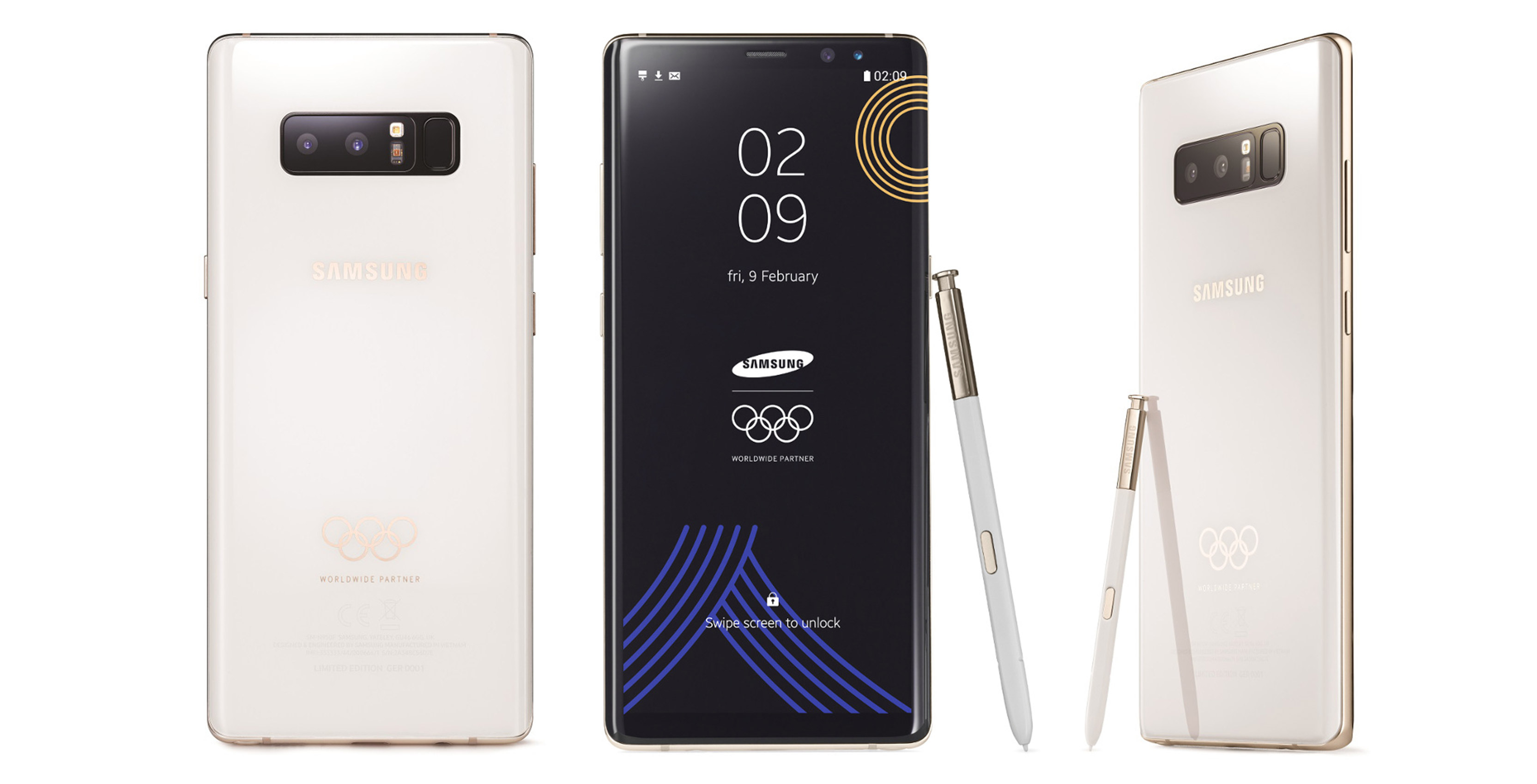 White Samsung Note 8