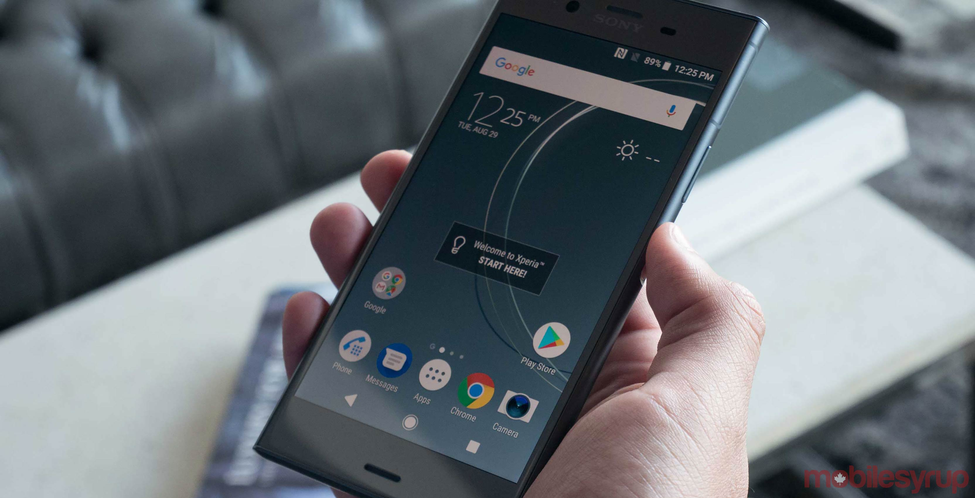 Sony Xperia XZ1 in hand
