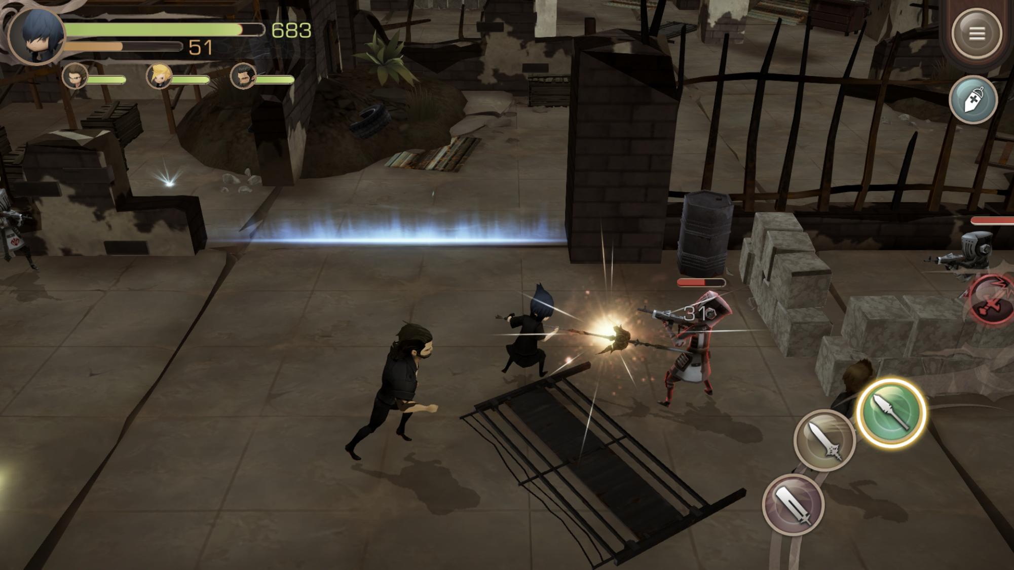 Final Fantasy XV Pocket Edition Imperial combat
