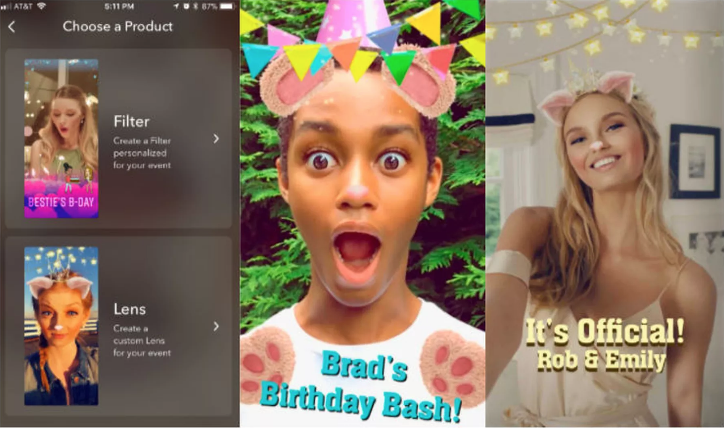 Snapchat personalized Lenses