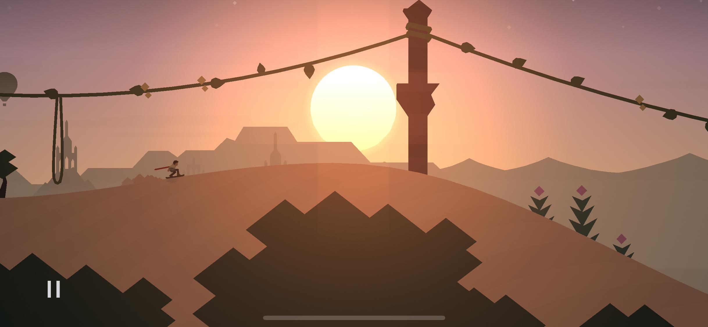 Alto's Odyssey sunset screenshot