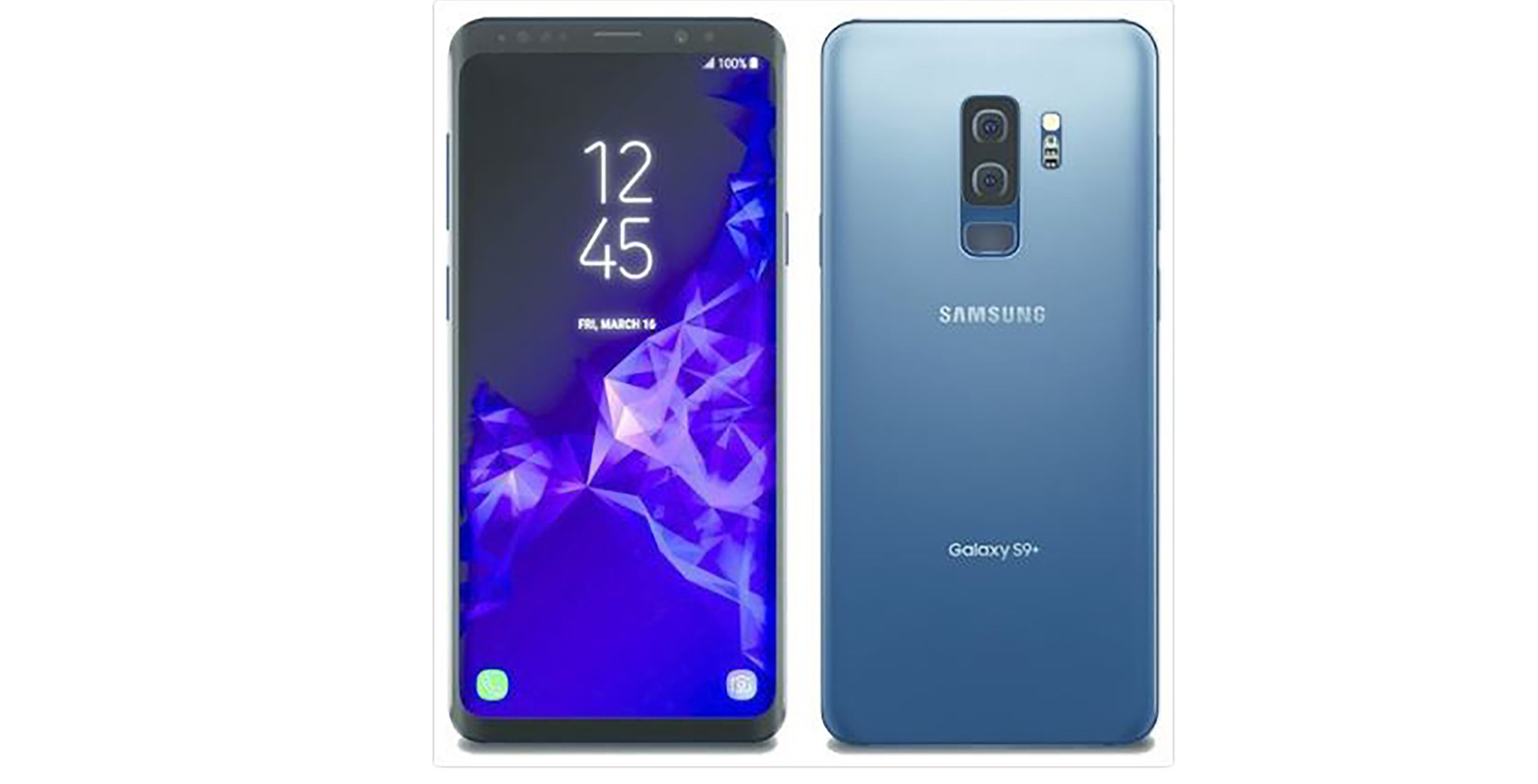 Galaxy S9 in coral blue