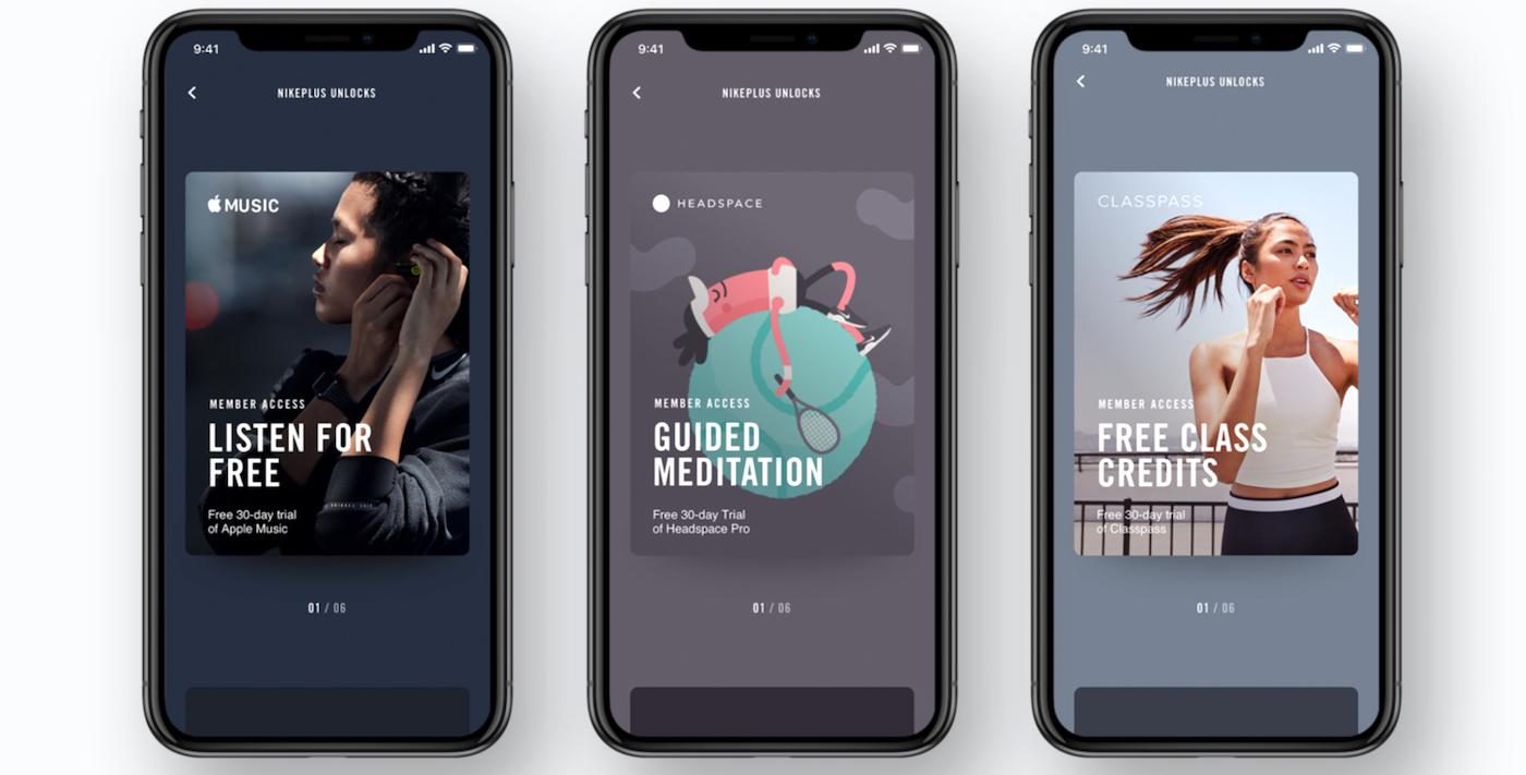 Nike Plus fitness app reward system