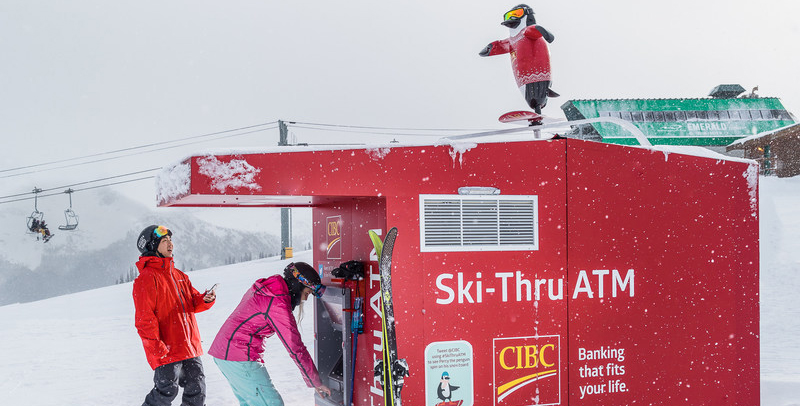CIBC's ski-thru ATM
