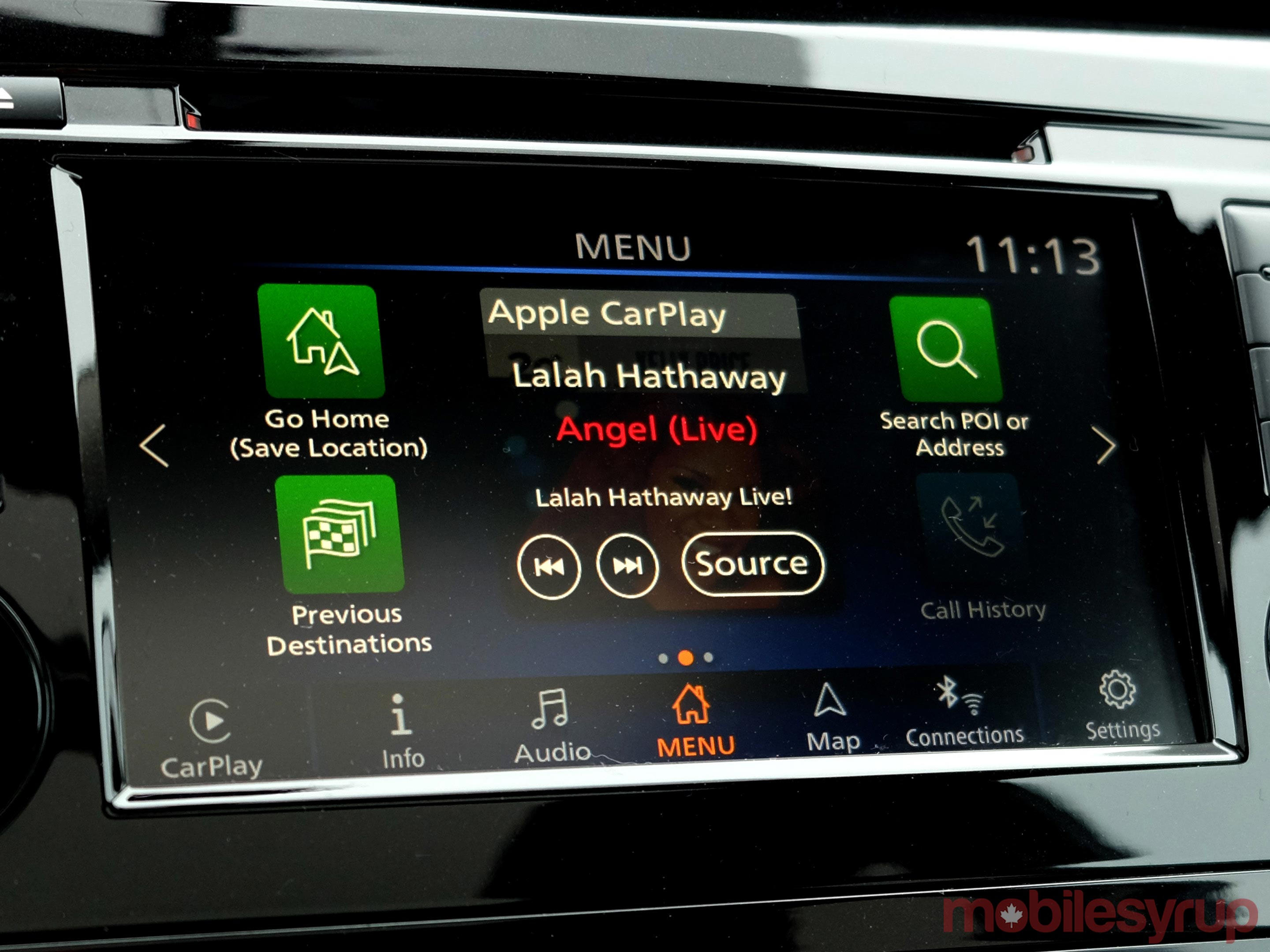 Nissan Connect main screen
